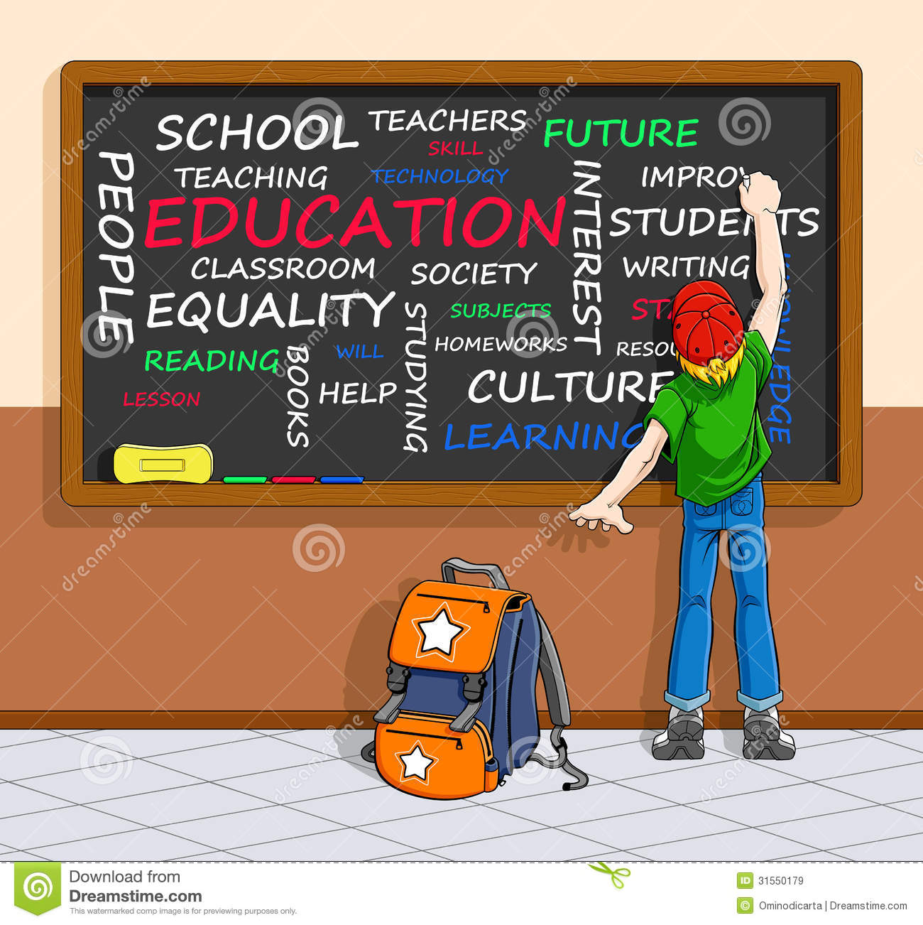 Education Concept In Word-cloud Stock Vector ...