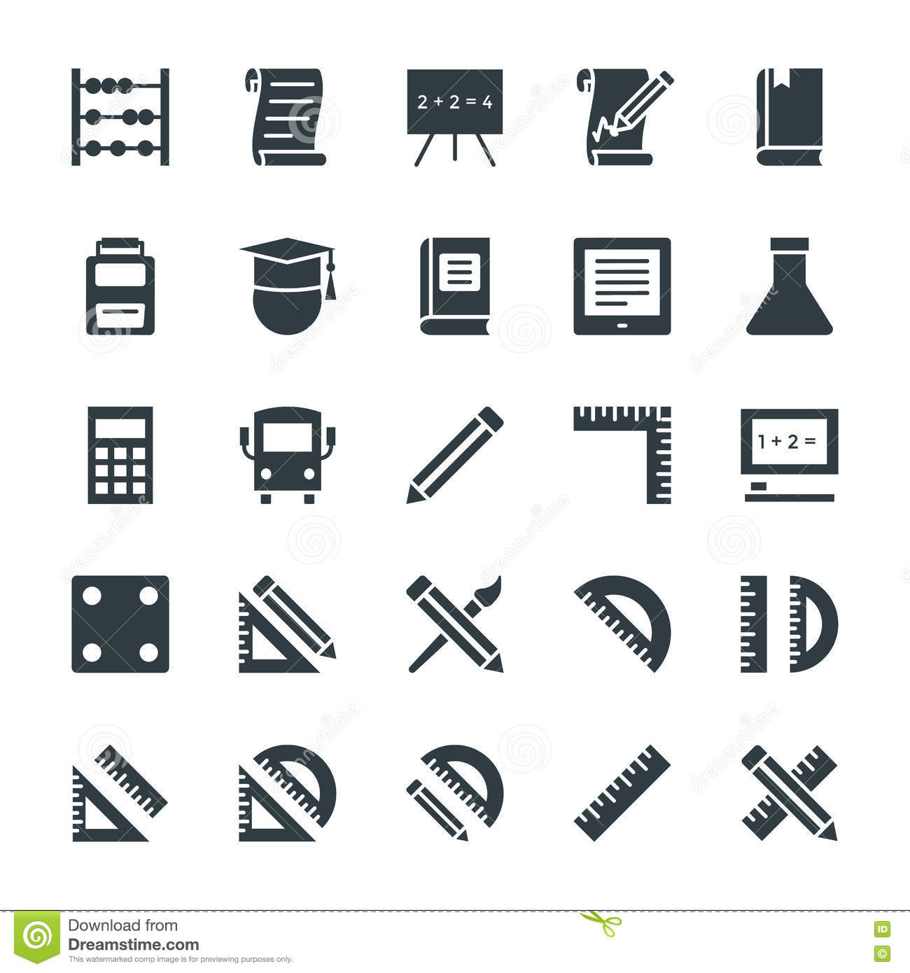 Education Cool Vector Icons 1 Stock Photo Image Of Paper Guide