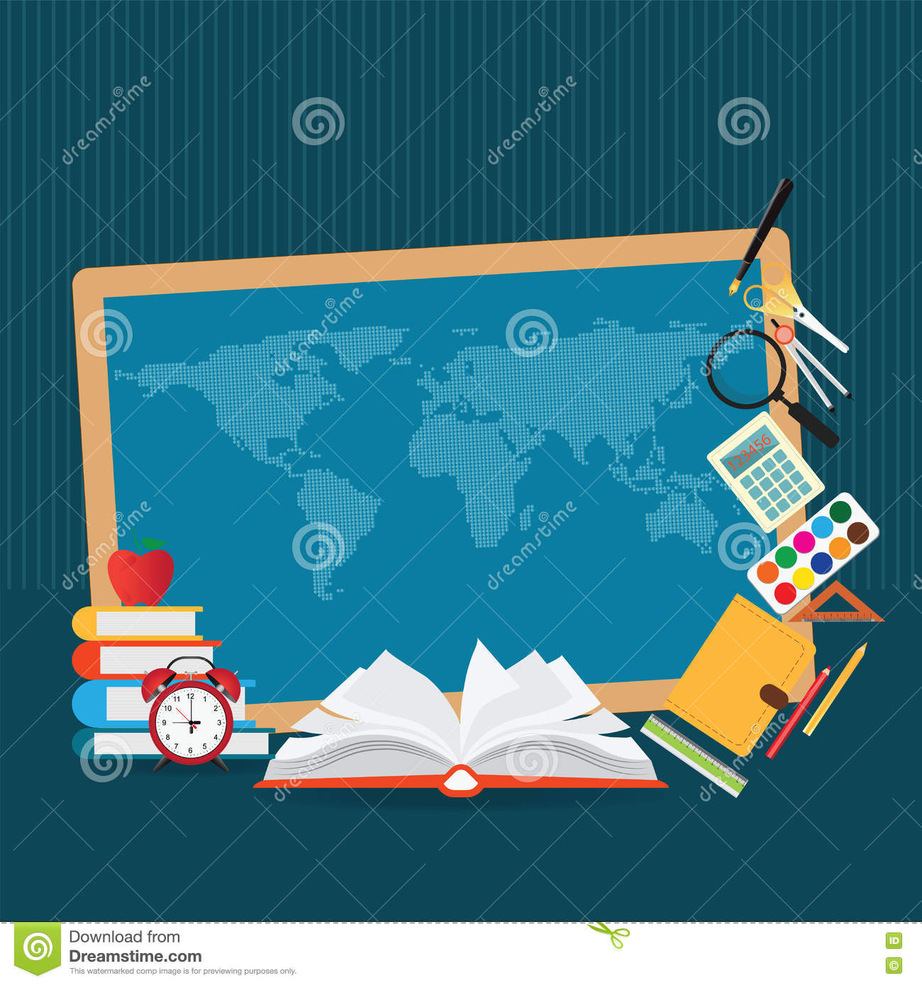Education design background with world map stock vector education design background with world map gumiabroncs Image collections