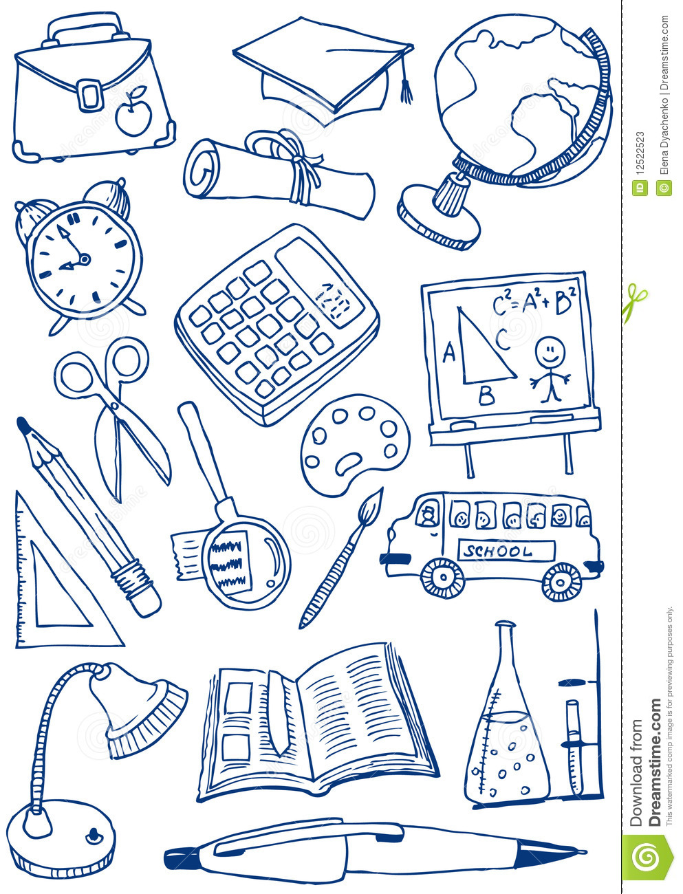 education doodles stock vector  image of paintbrush  book