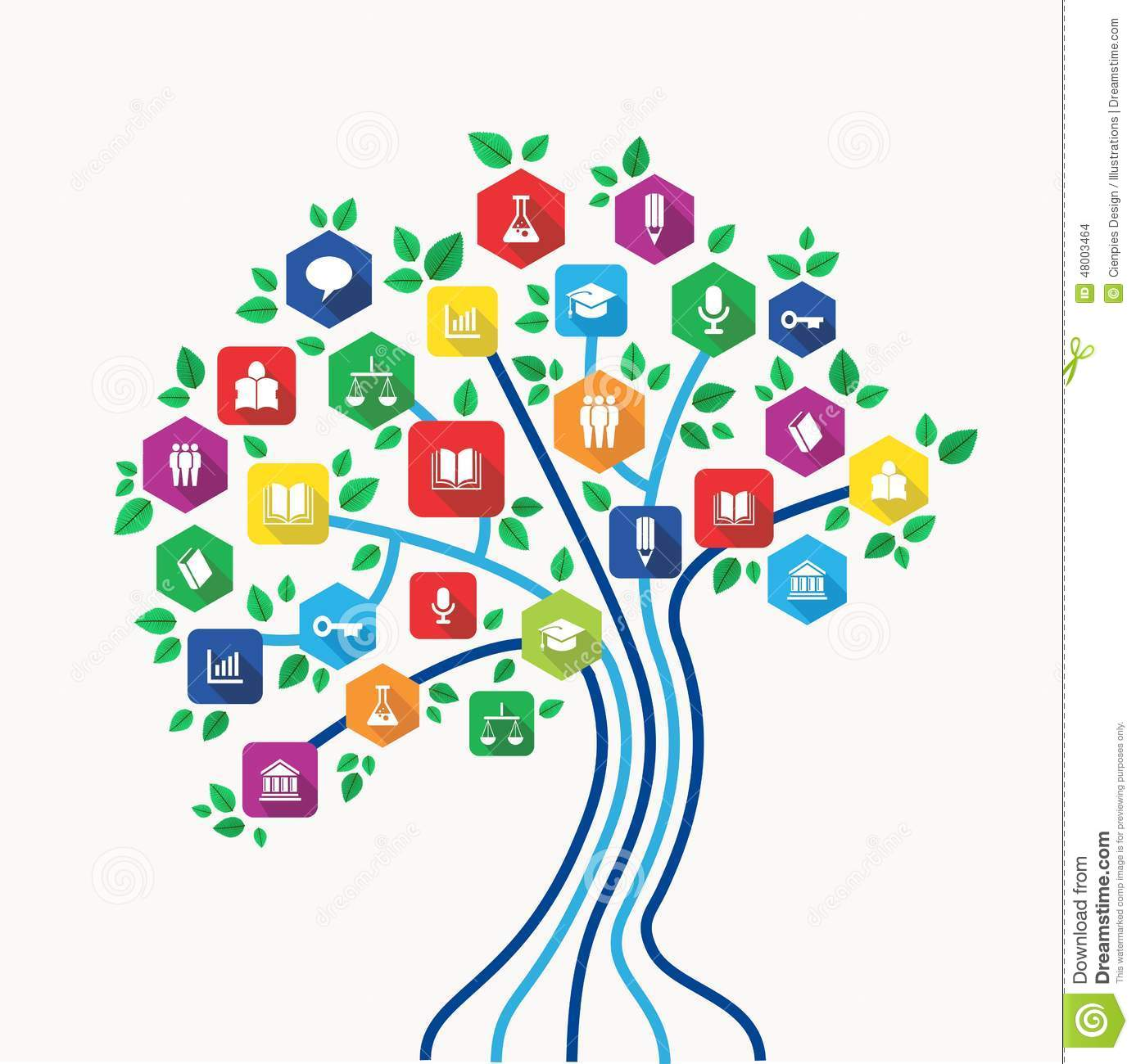 technology education and e-learning concept tree with back to school ...