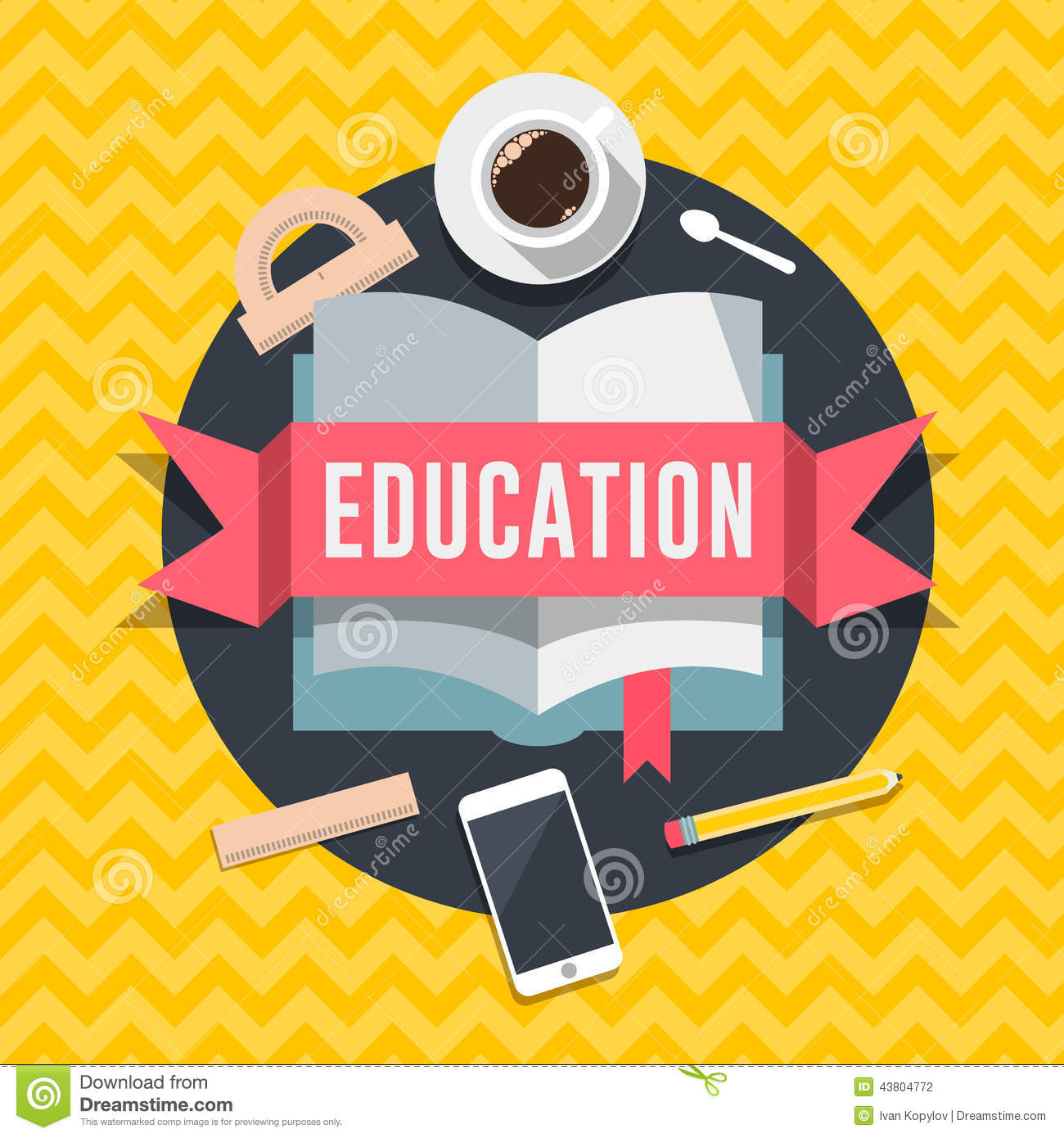 Education flat design concept for web and mobile services - How to learn web designing at home free ...