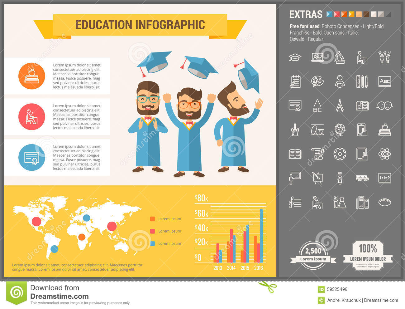 Infographic template ipad