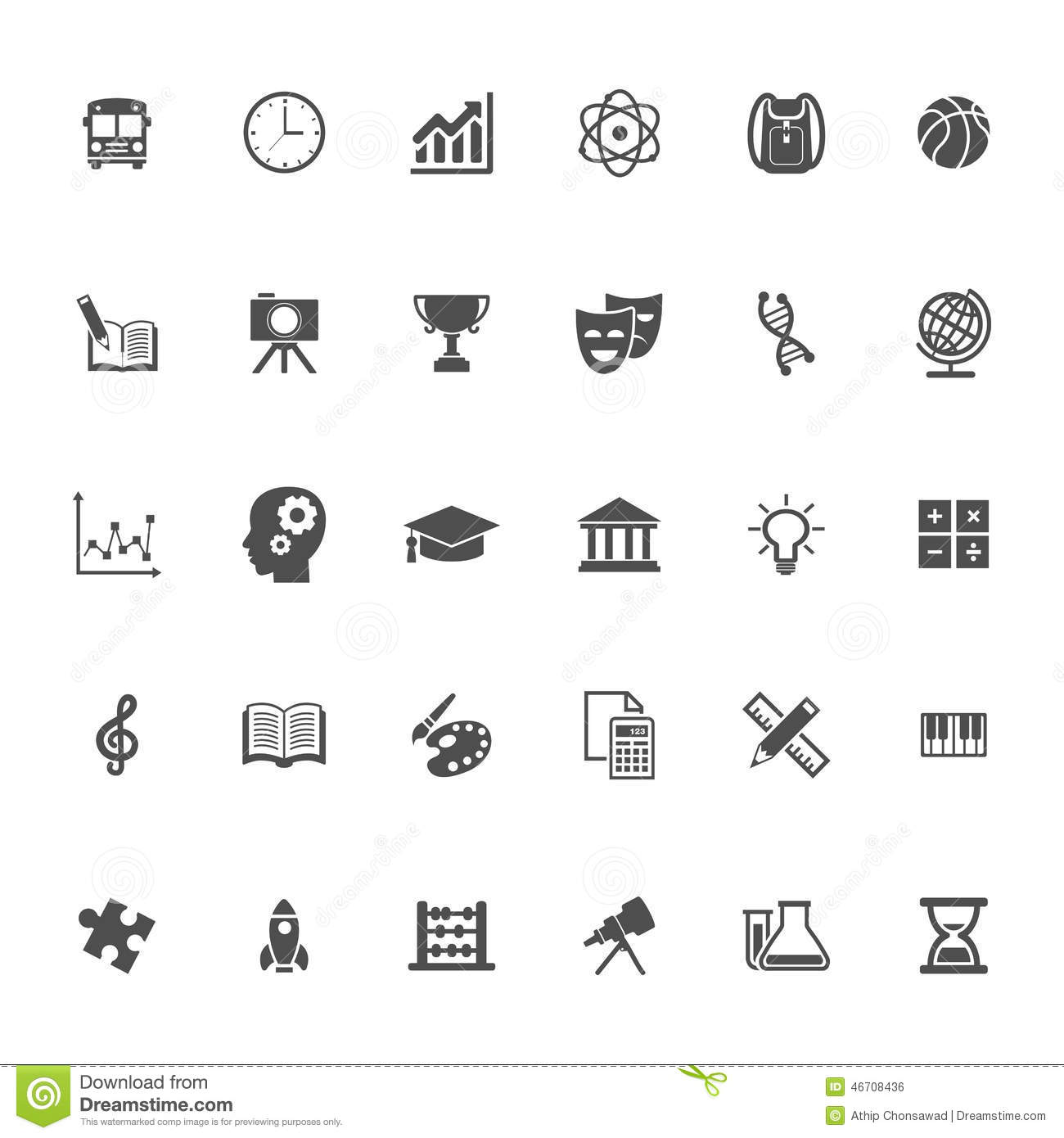Collection Of Monochrome Flat Design Book Logo: Education Flat Icon Stock Vector