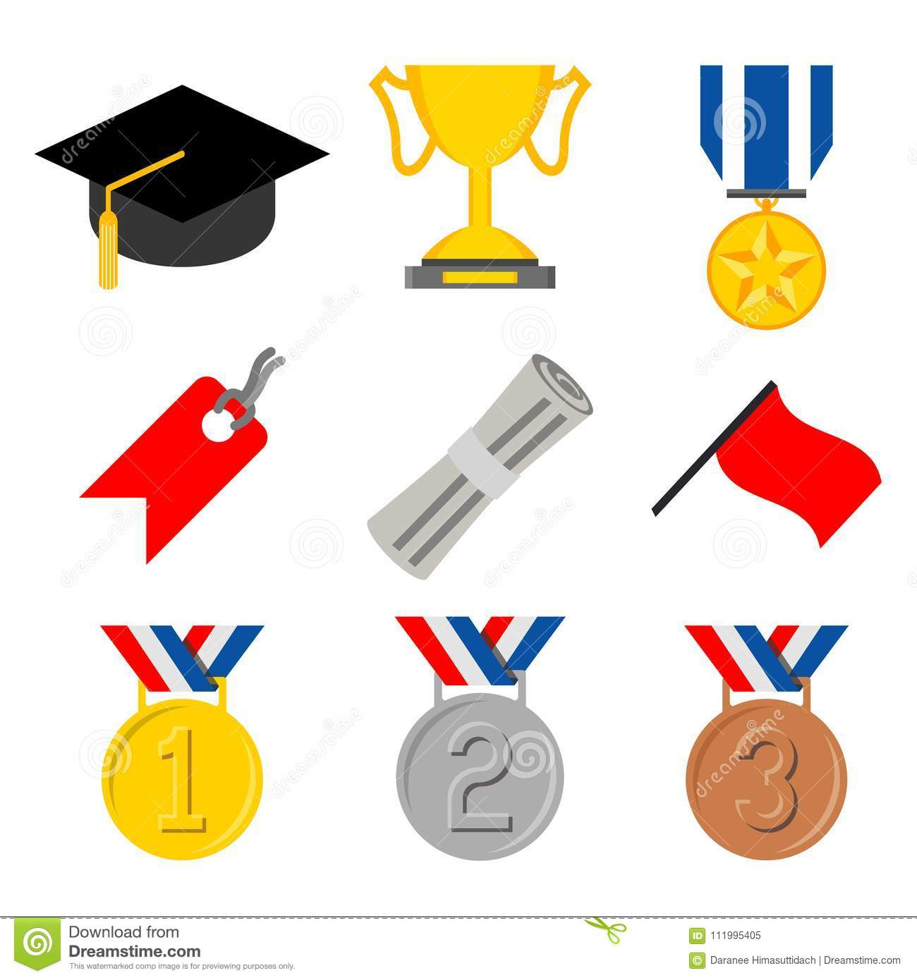 Education Graduate Bachelor Certificate Degree Symbol Icon Vector