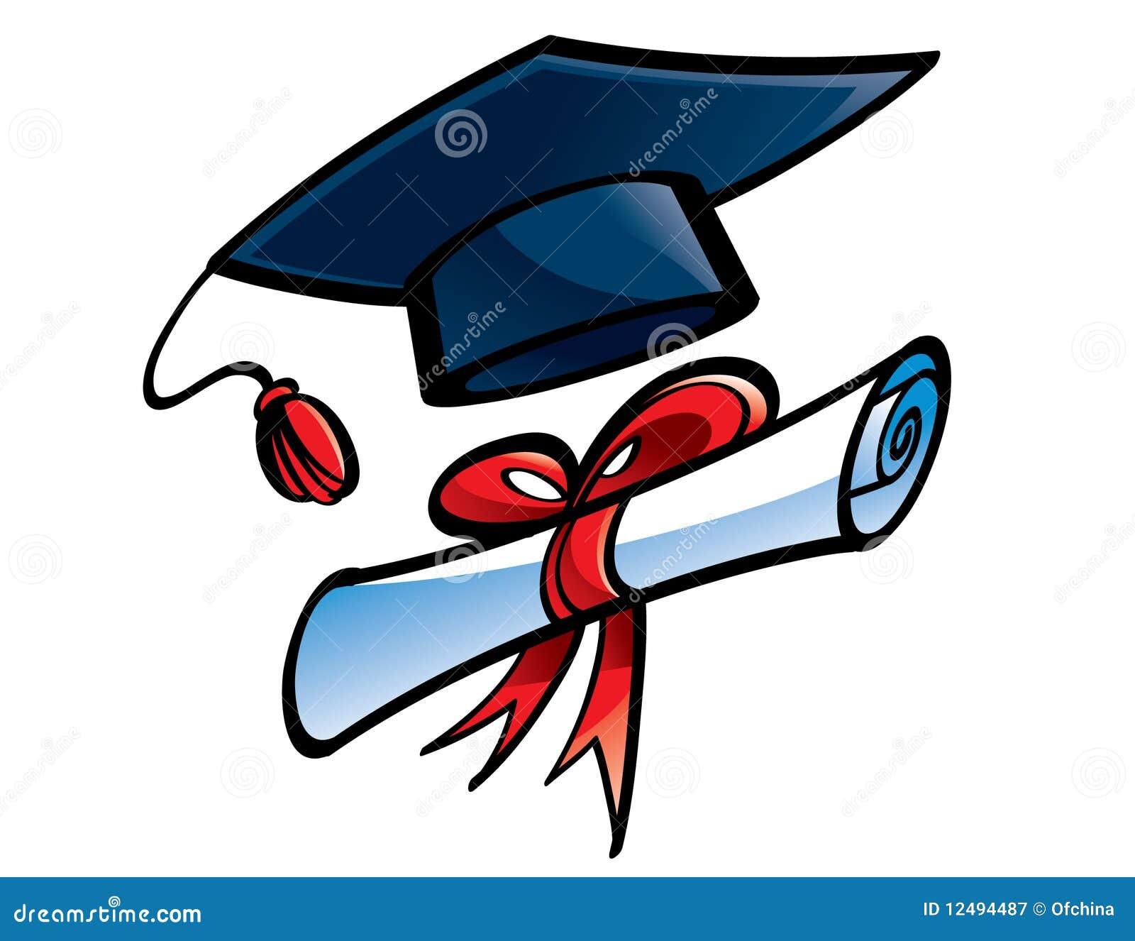 Royalty free stock photography education graduation cap and diploma