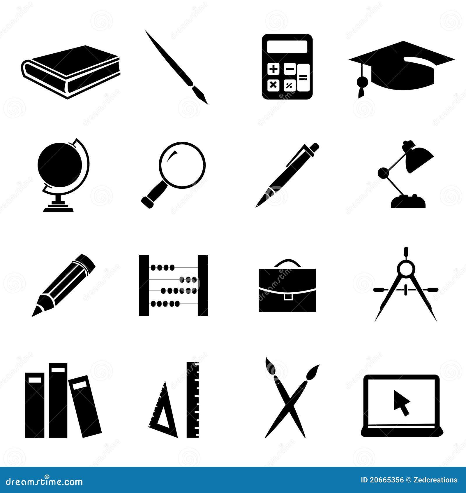 Education Icons Set 01 Royalty Free Stock Image - Image ...