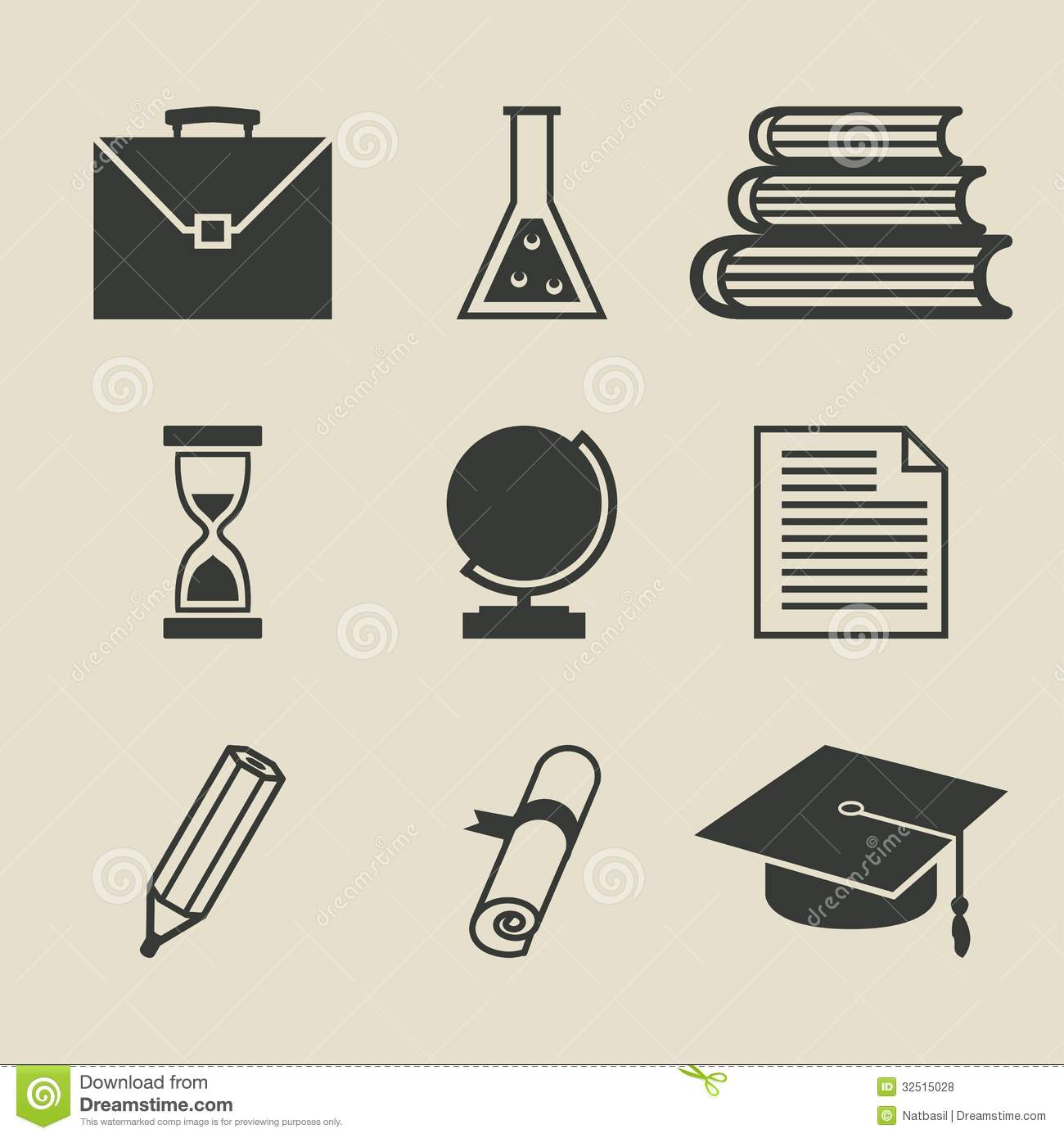 Education Icons Set - Vector Illustration Stock Vector ...
