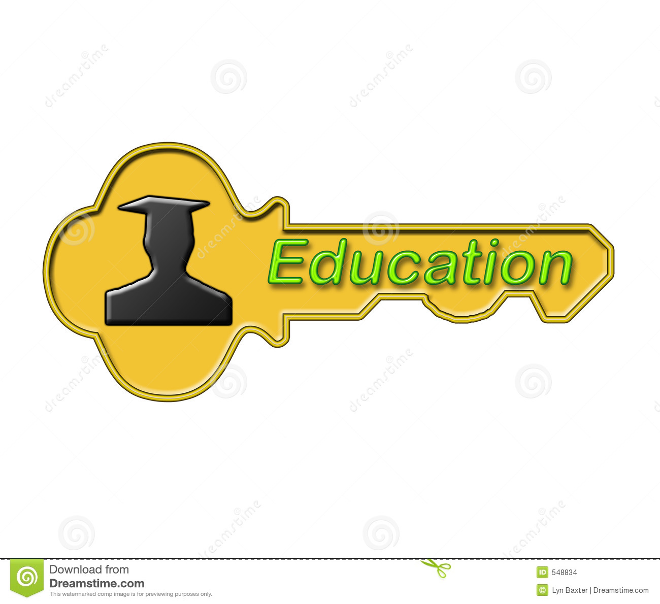 Education: Education Is The Key Stock Images