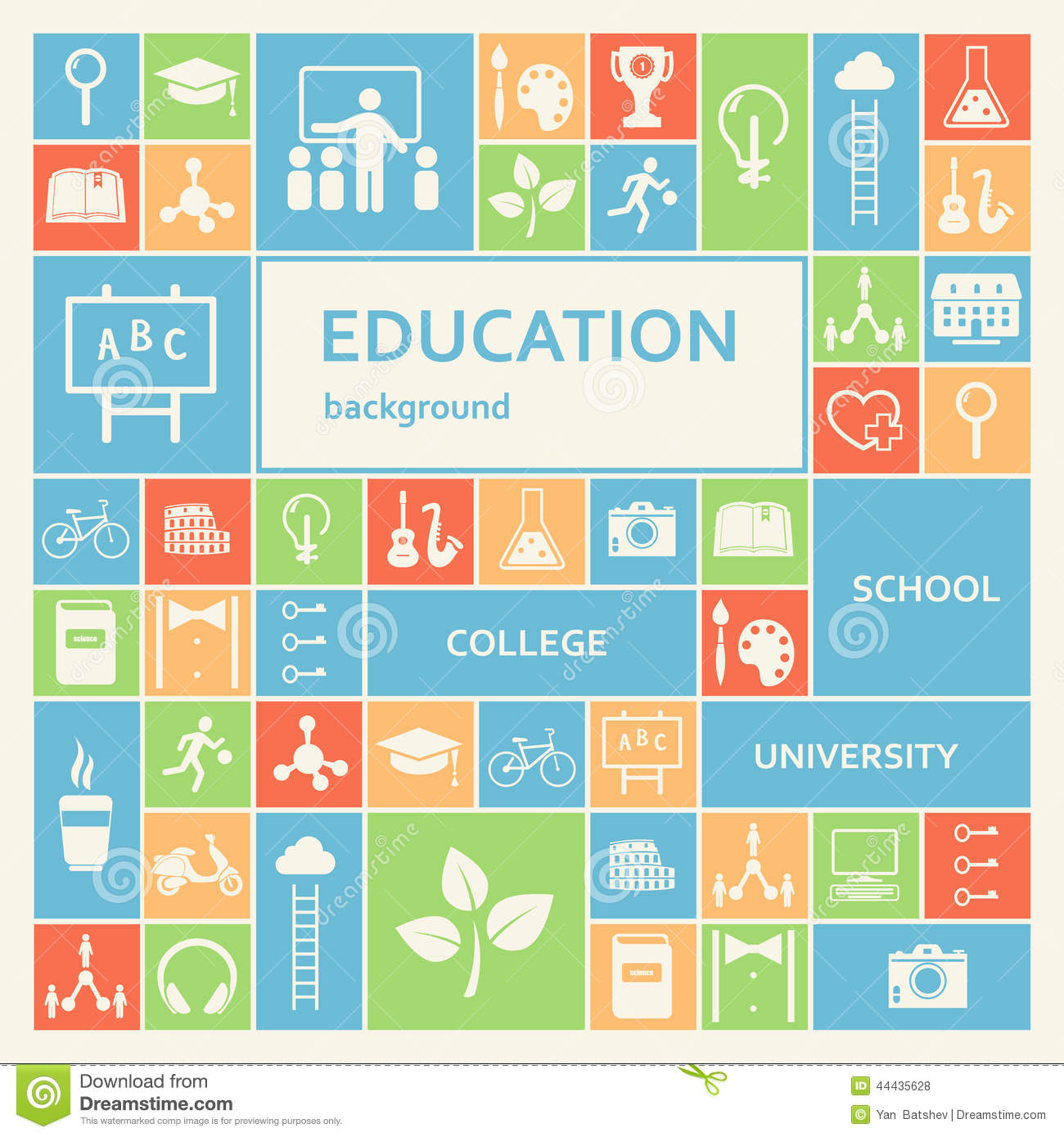 Education And Learning Background Stock Vector Image