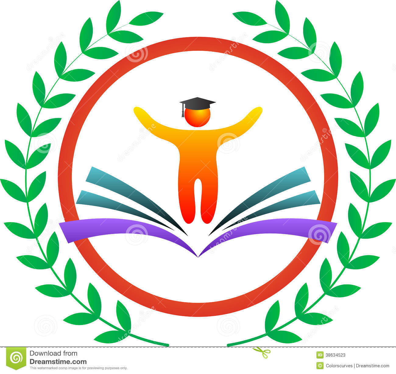 vector drawing represents education logo design.