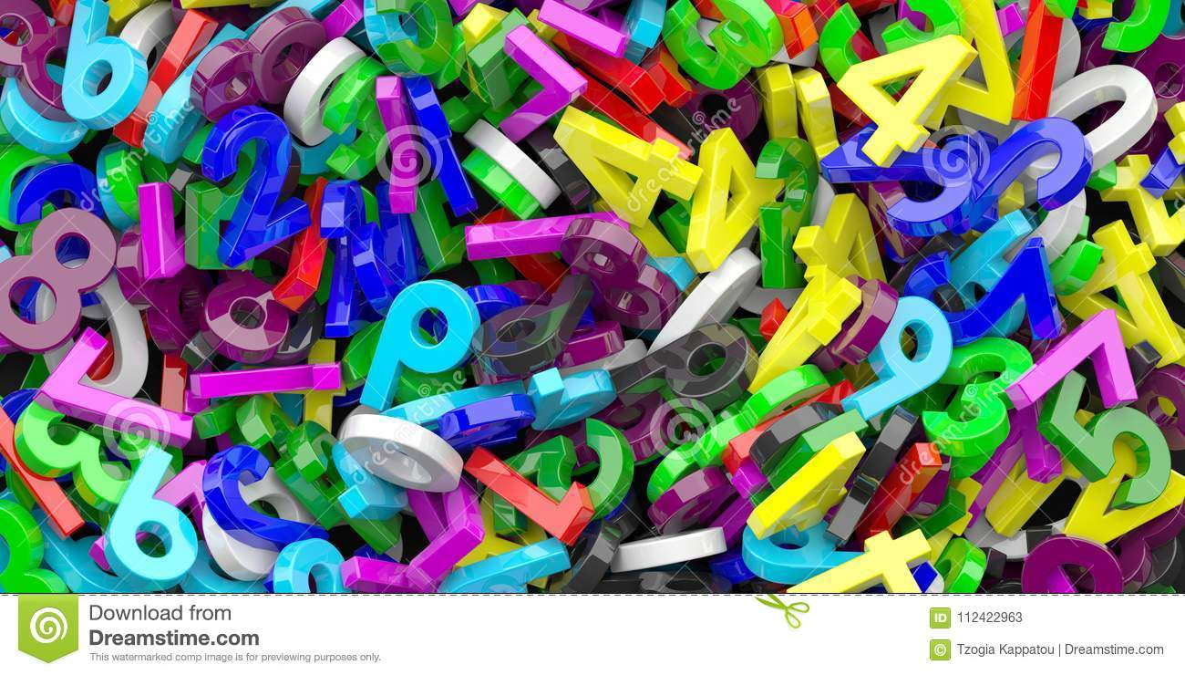 Download Education, Maths, Calculation Concept. Colorful Figures Numbers Background. 3d Illustration Stock Illustration - Illustration of count, colors: 112422963