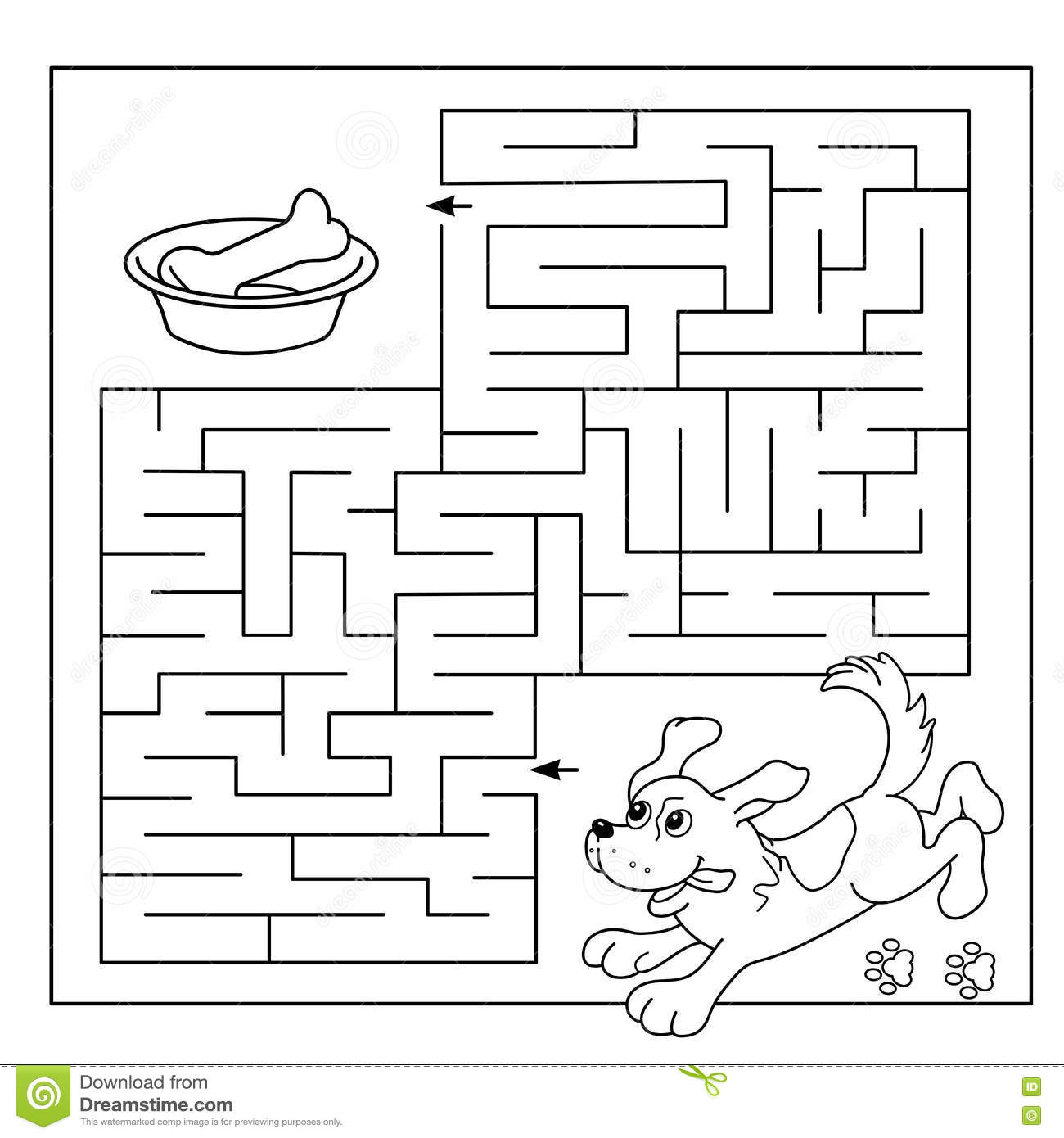 Childrens educational coloring activity book - Royalty Free Vector Download Education Maze Or Labyrinth Game For Preschool Children Puzzle Coloring Page Outline Of