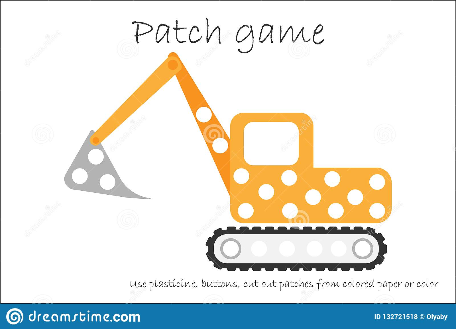 photograph regarding Printable Patches named Education and learning Patch Video game Excavator For Young children In direction of Establish Engine
