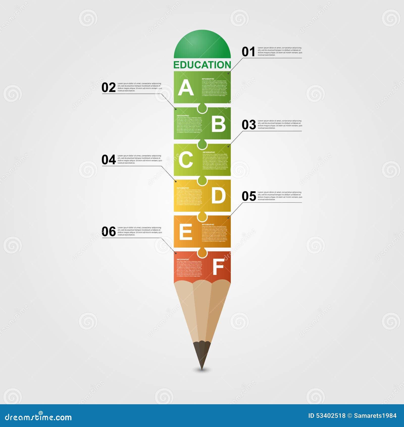 Education pencil Infographic design template.