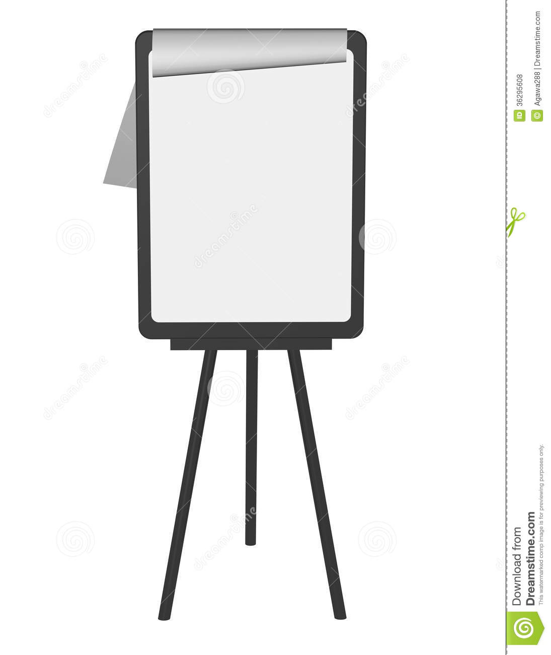 Education Presentation Stand Isolated With Paper