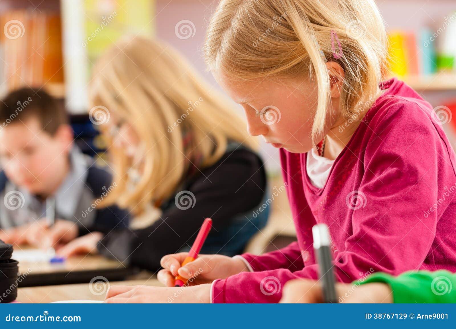Education - Pupils at school doing homework