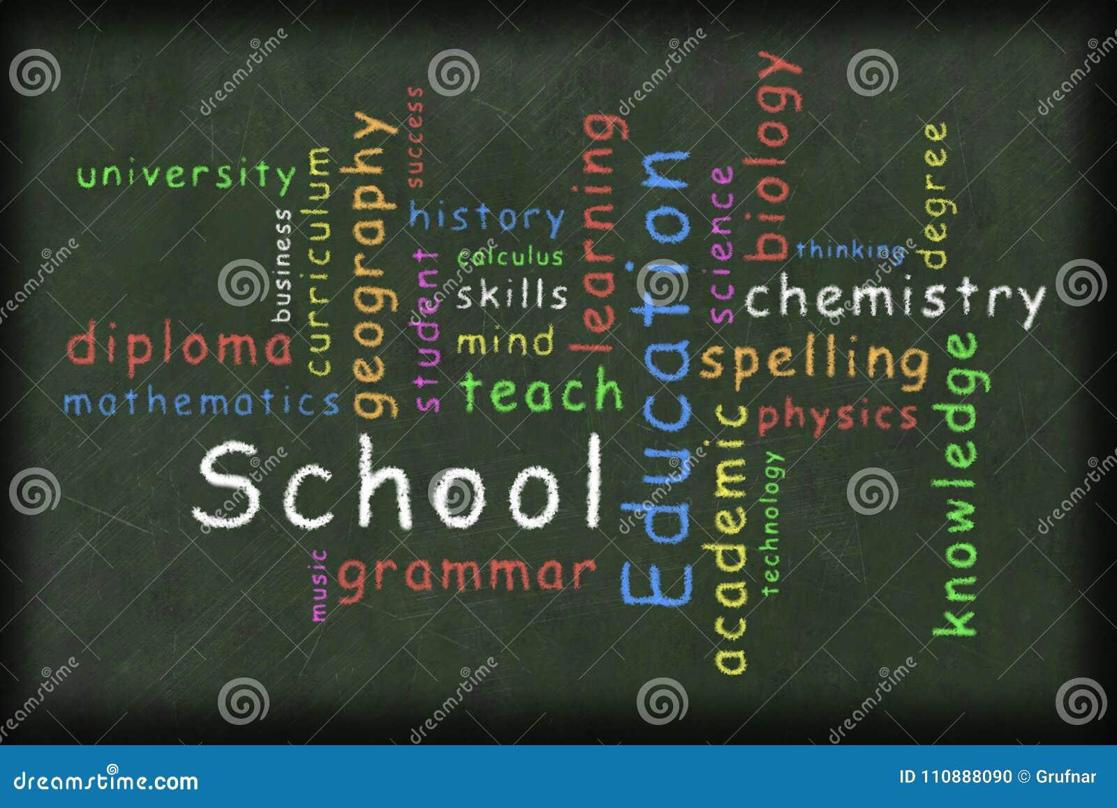 education related word cloud illustration stock illustration