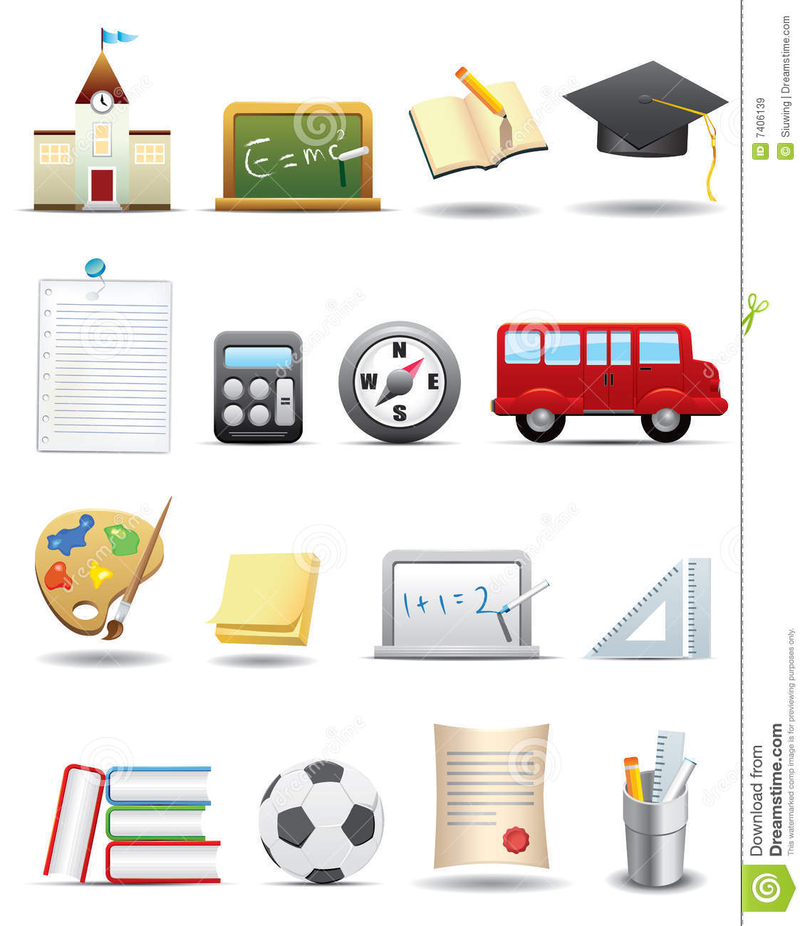Education and School Icon Set -- Premium Series