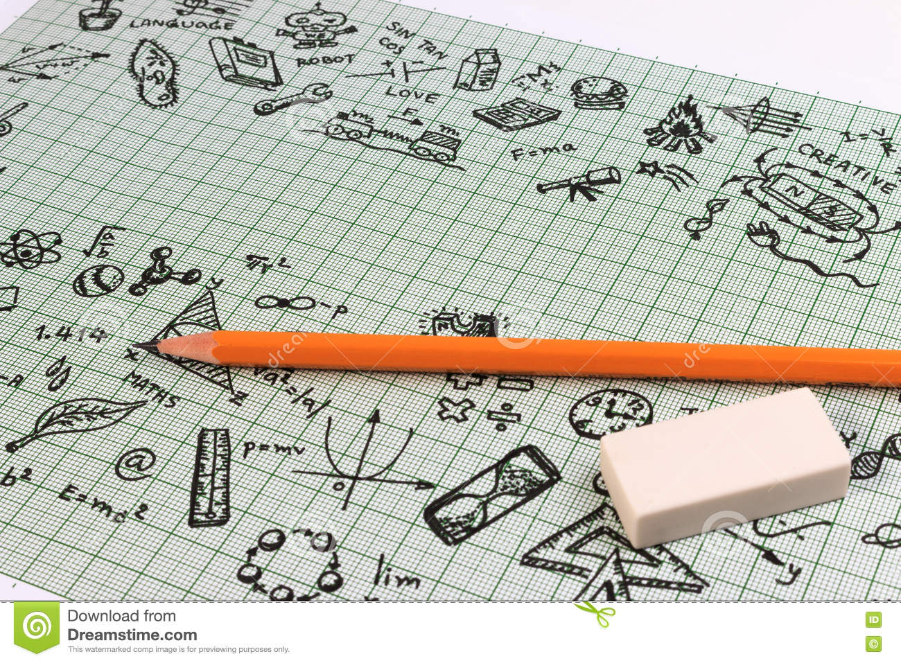 Education sketch design on notebook with copy space for Copy design