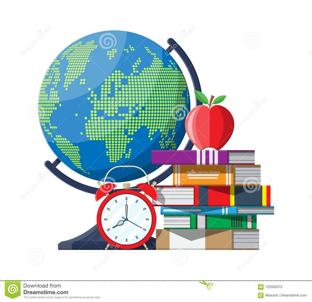 Education Target And Study Concept. Stock Vector - Illustration of on