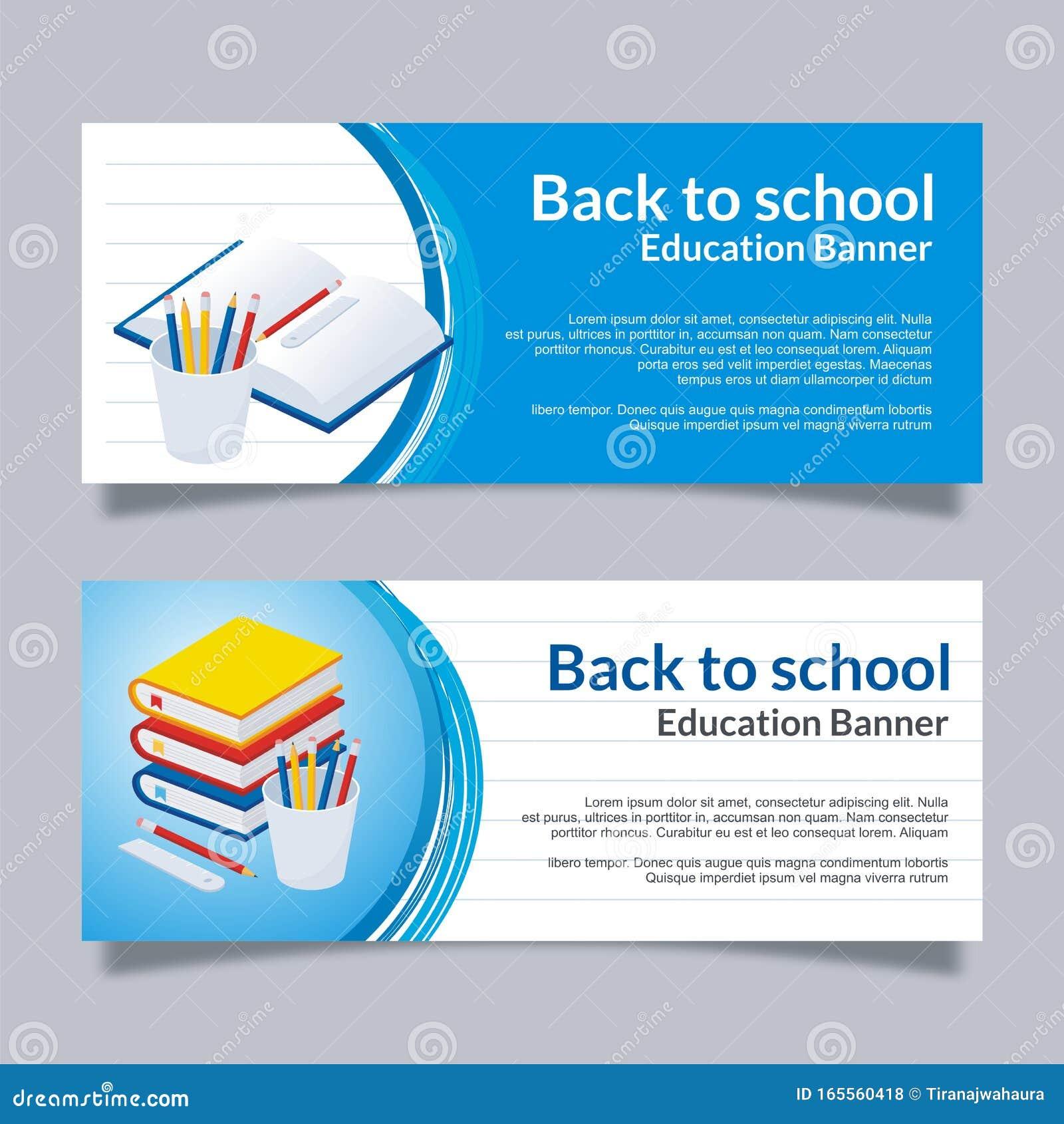 Education University Banner With Modern Design Stock Vector Illustration Of Academy Degree 165560418