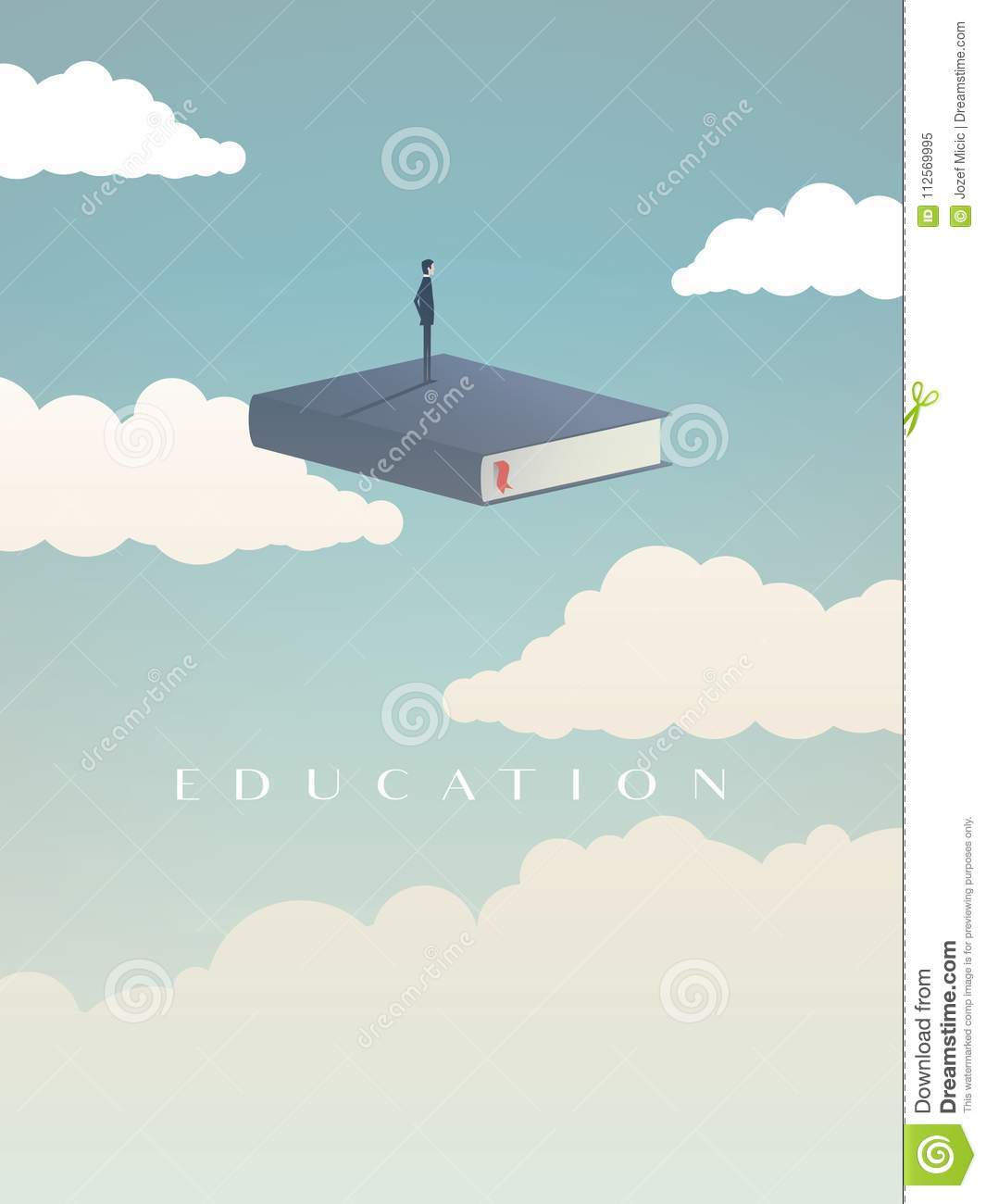 Education Vector Concept  Businessman Or Student Standing On
