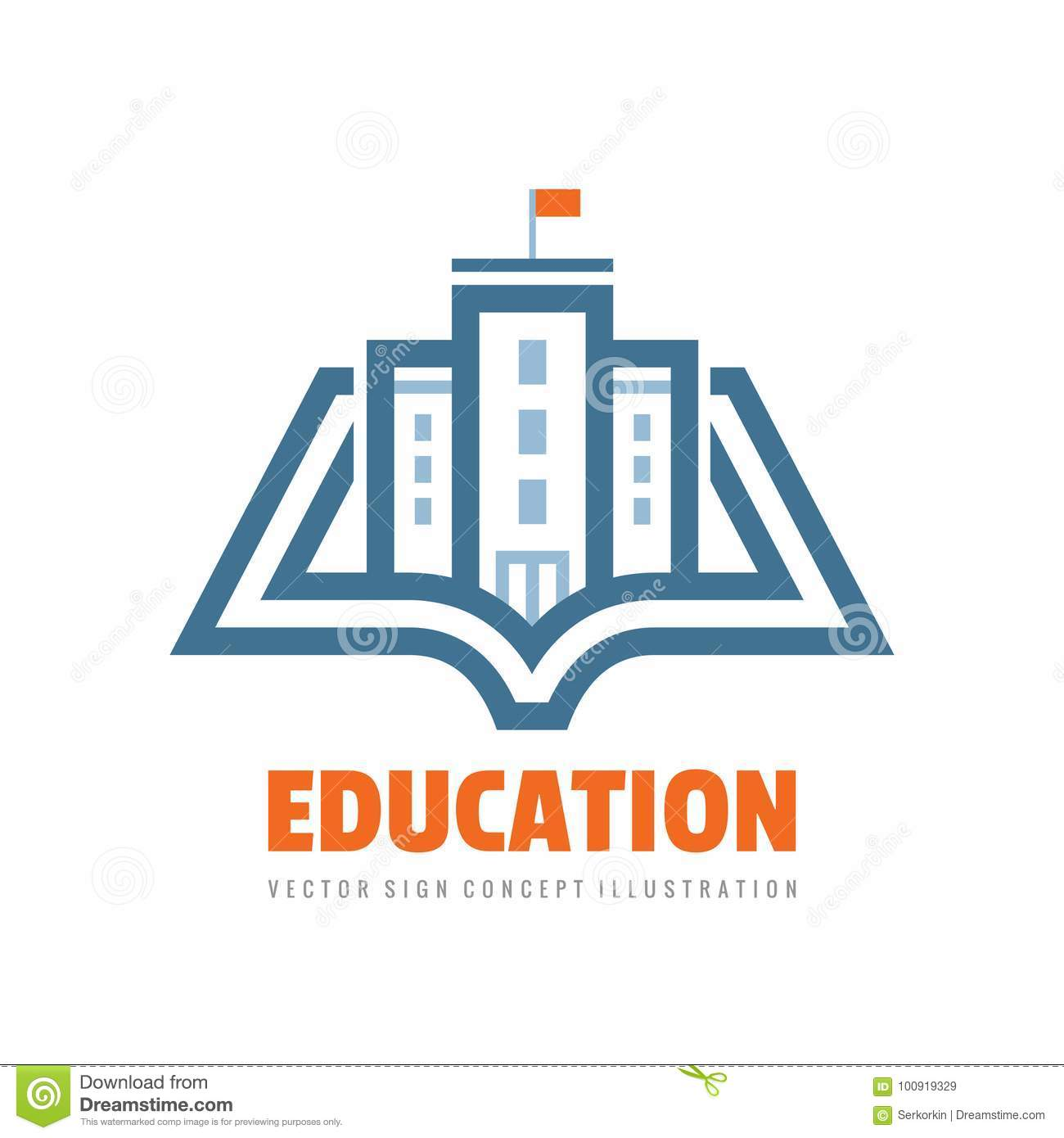 Education - vector logo template concept illustration. Book learning creative sign. Emblem for school or university.
