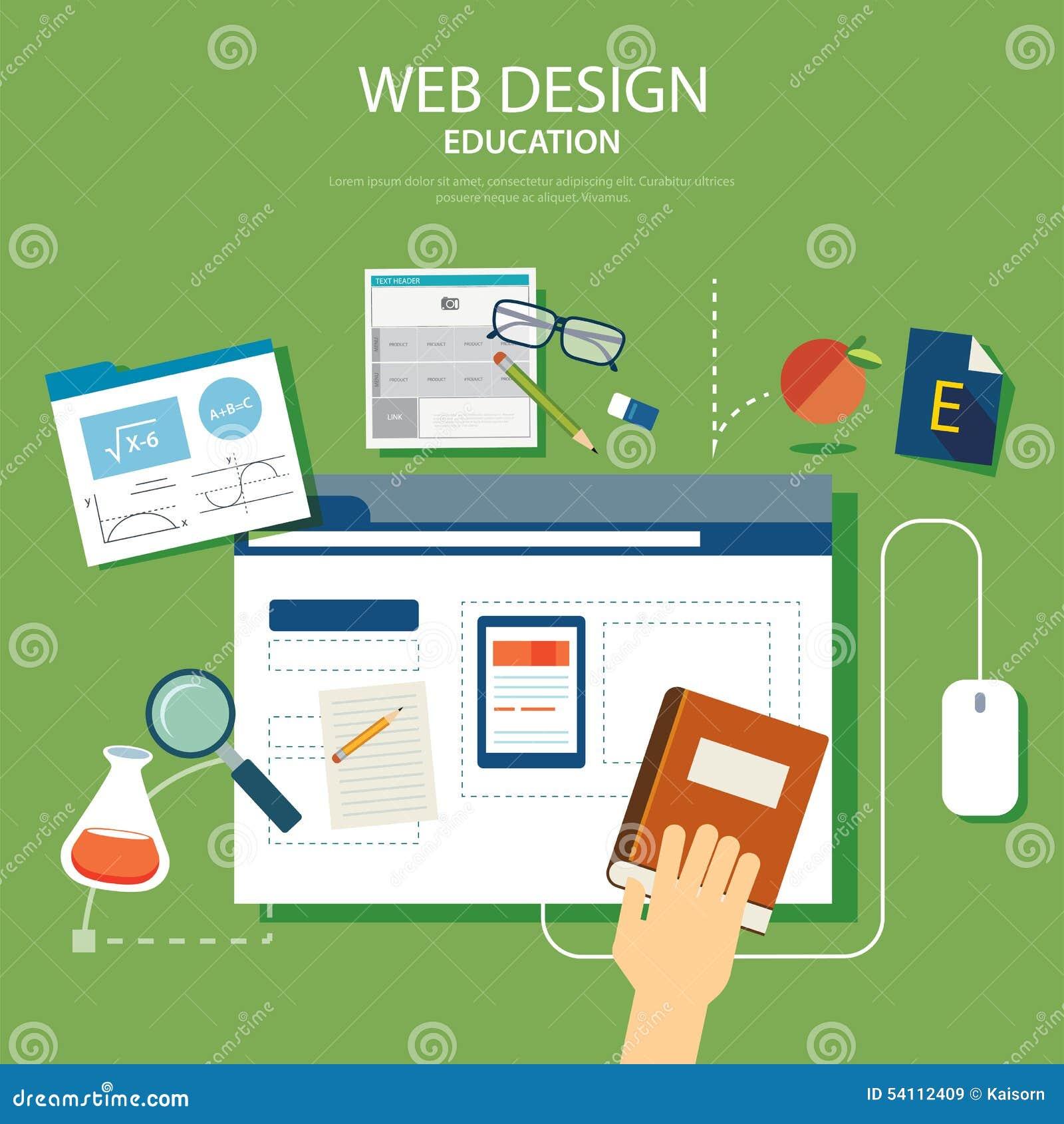 Education website development project design concept