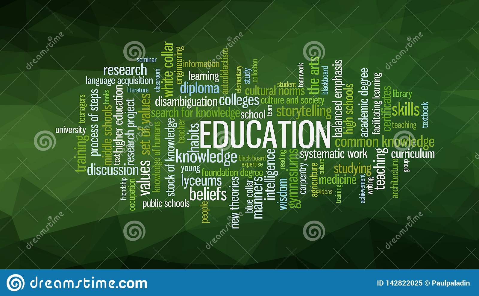 Education Word Cloud, Concept Illustration Vector Stock ...
