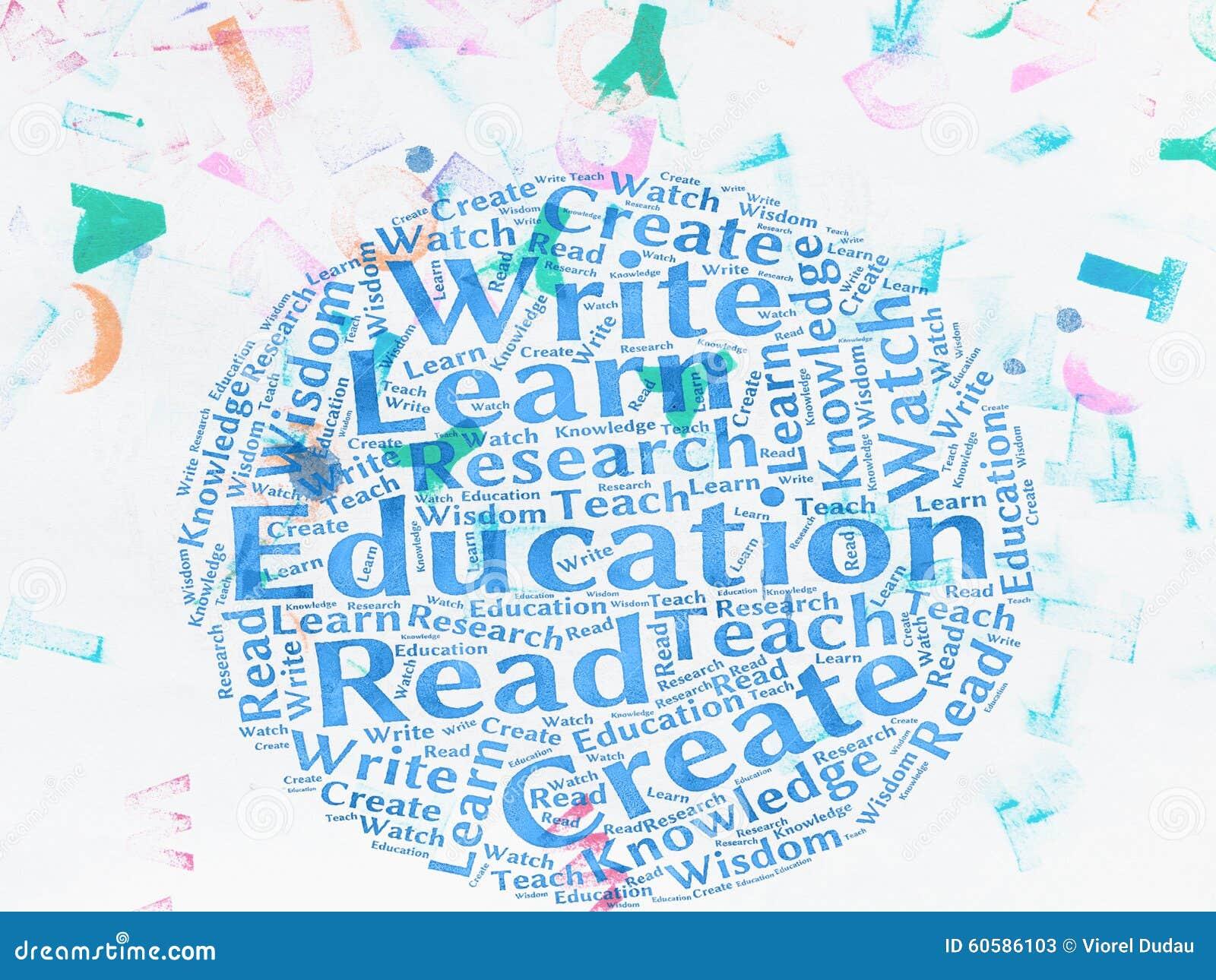 education words stock illustration illustration of spelled 60586103