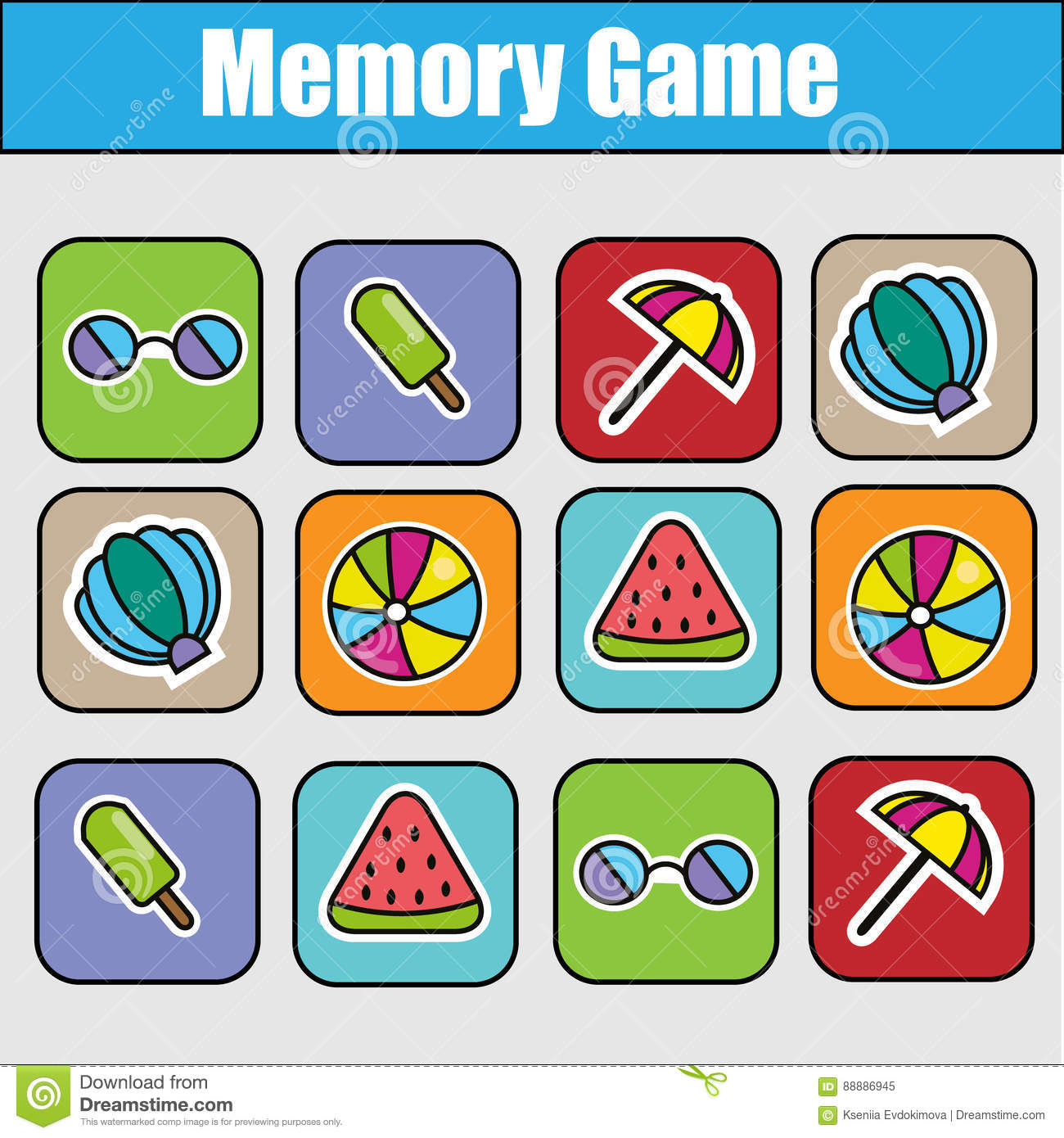 memory game template powerpoint gallery - templates example free, Modern powerpoint