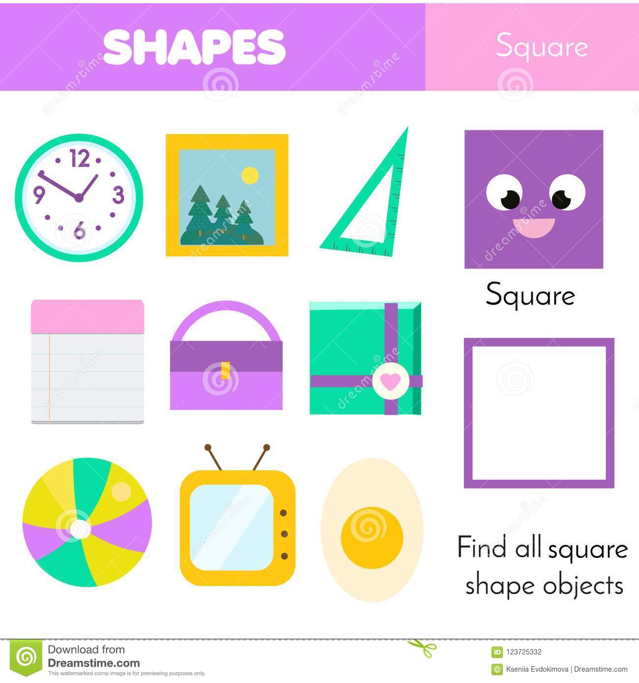 Educational Children Game. Learning Geometric Shapes ...  Educational Chi...