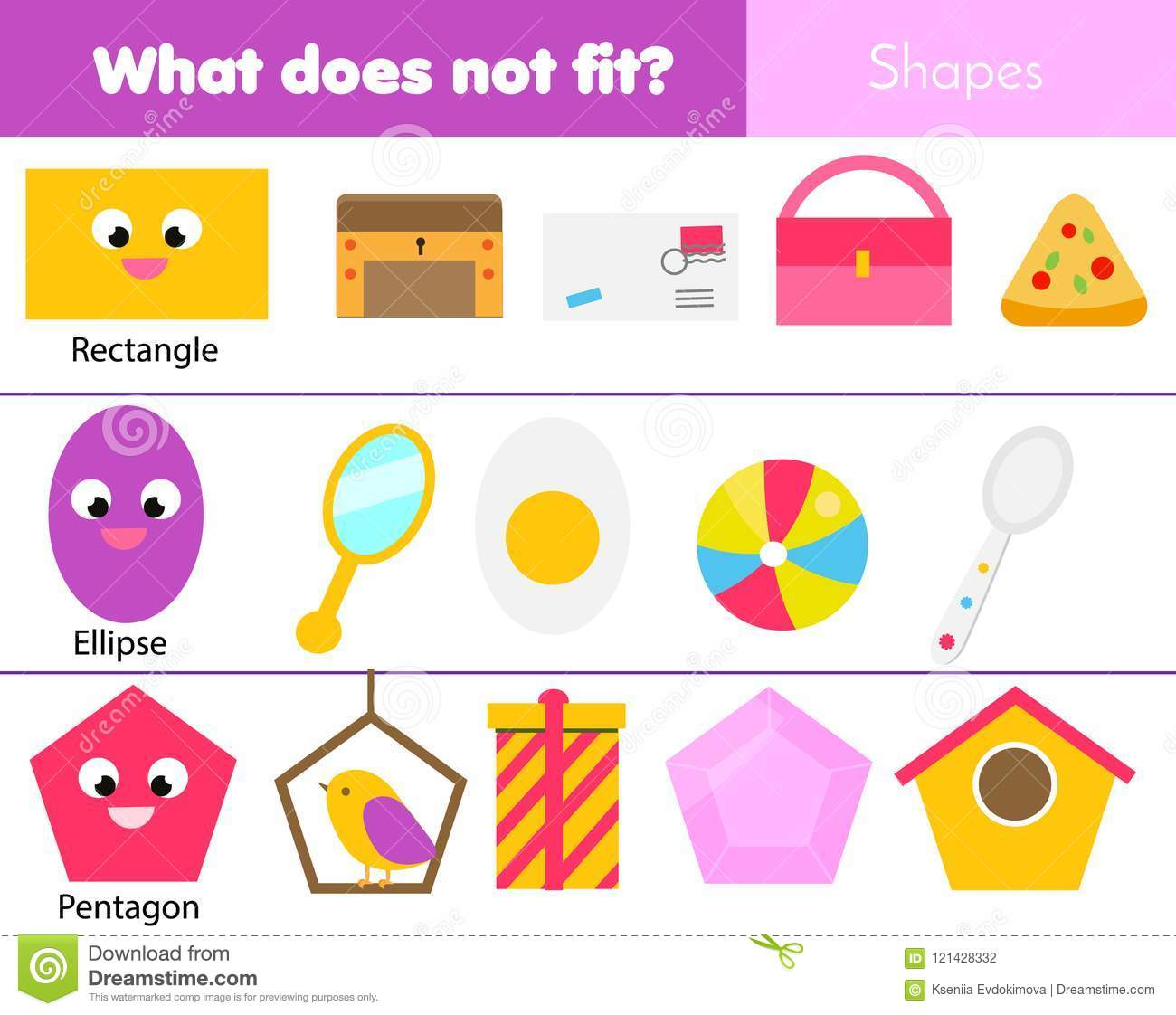 Educational Children Game. Logic Game. What Does Not Fit Type ...