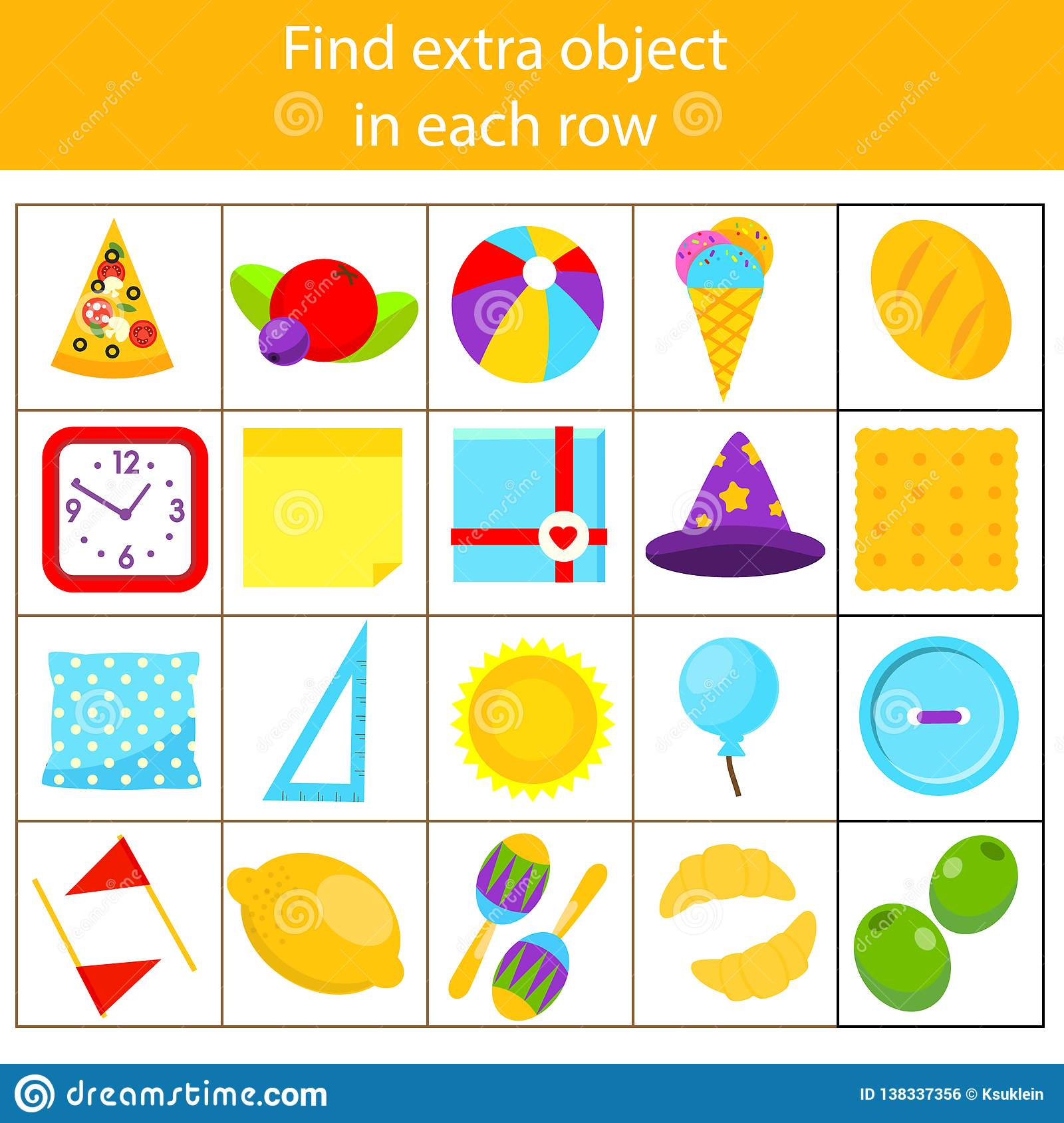 Educational Children Game. Logic Game. What Does Not Fit ...