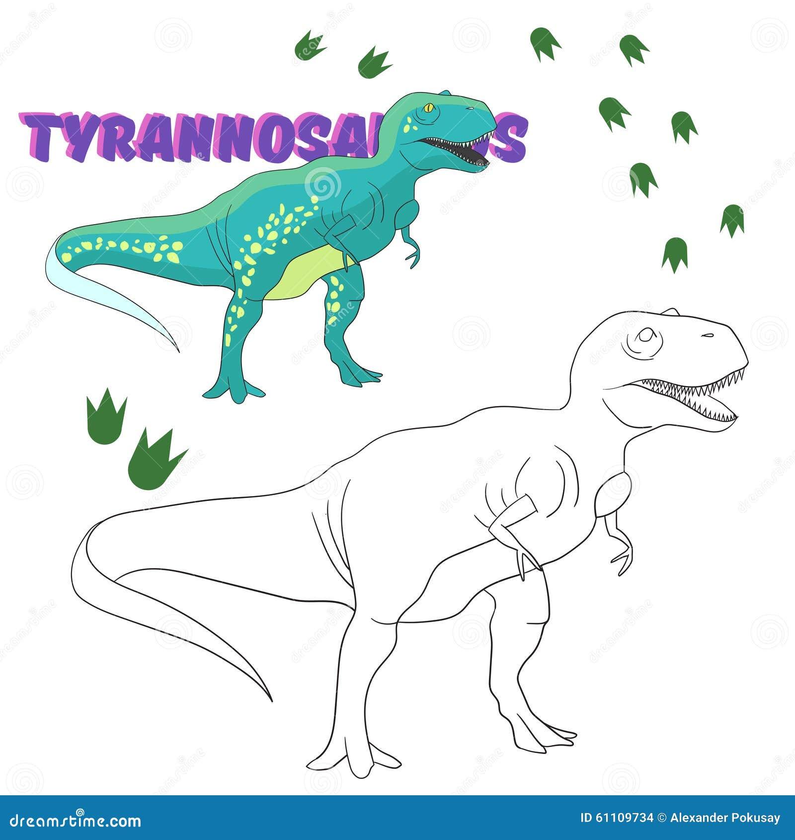 Educational Game Coloring Book Dinosaur Stock Vector ...