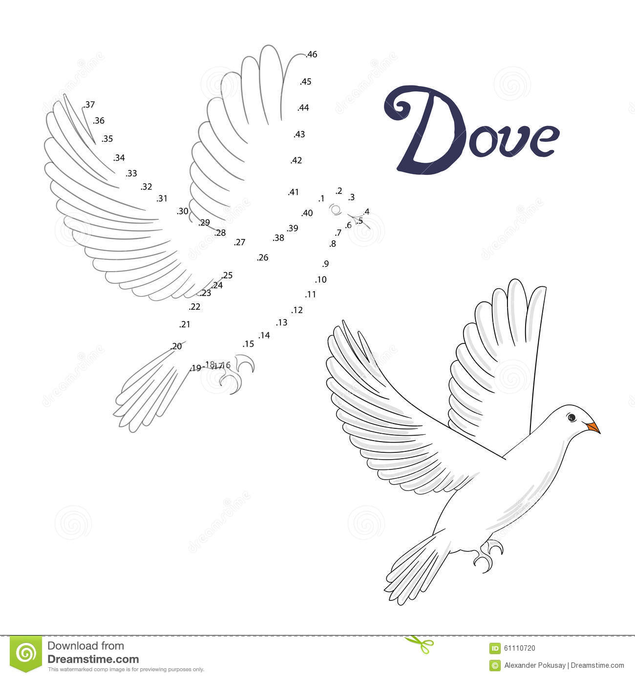 how to draw a dove cartoon