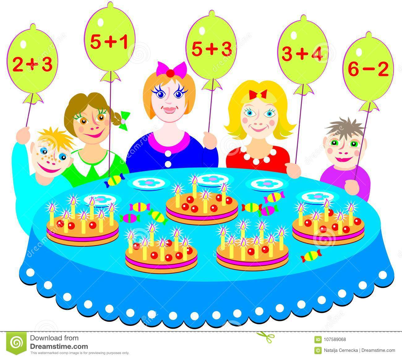 Educational Page On Addition And Subtraction. Which Cake Will Every ...