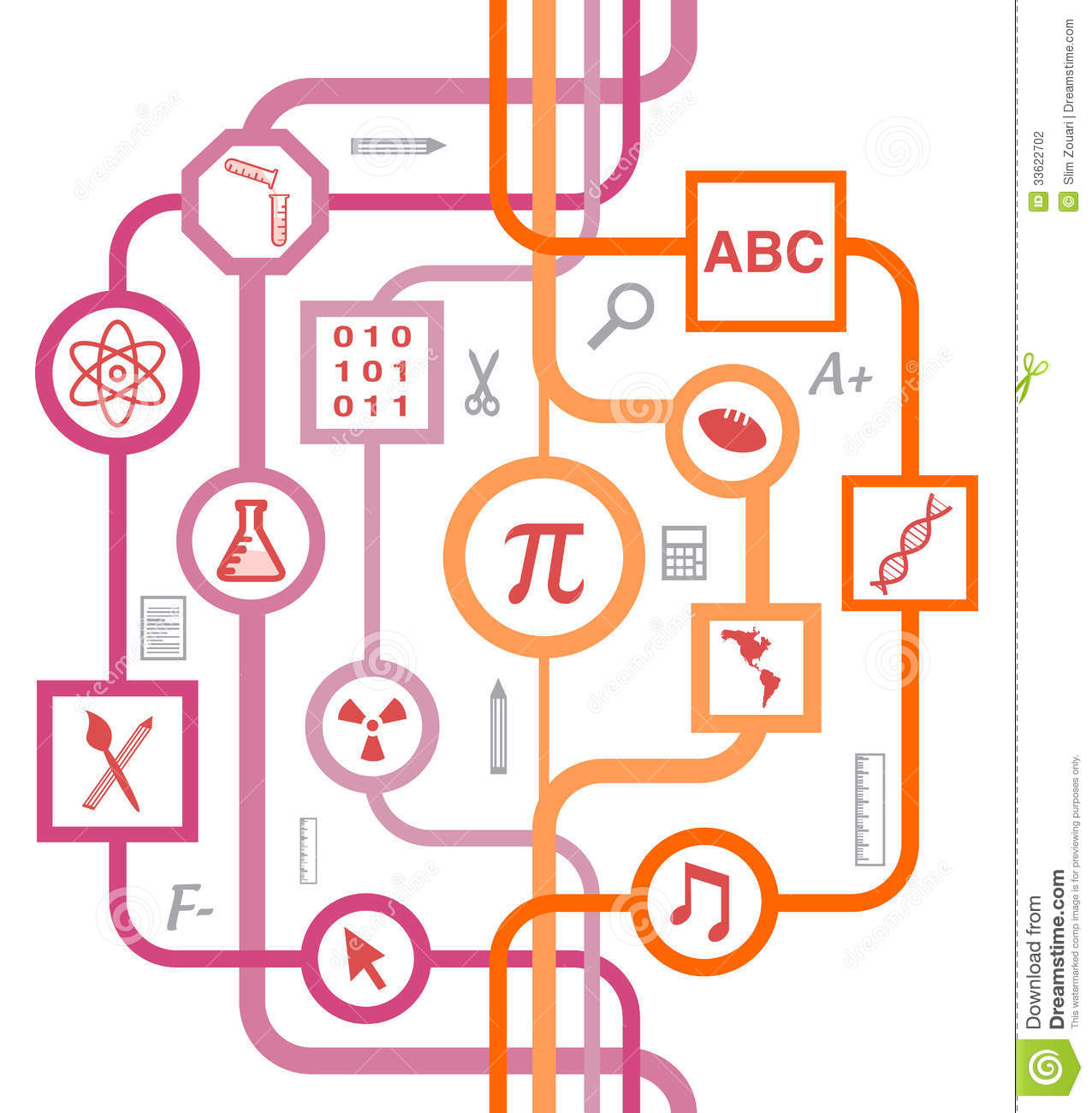 Educational school symbols pattern stock illustration educational school symbols pattern buycottarizona Image collections