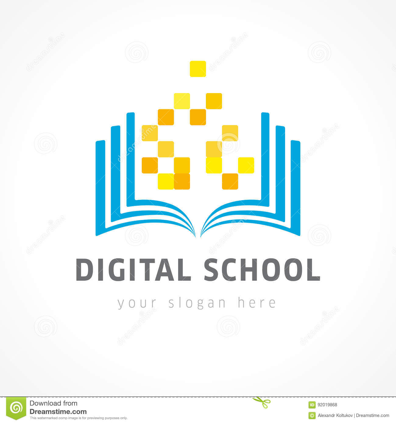 Educational Vector Logo Stock Vector Illustration Of