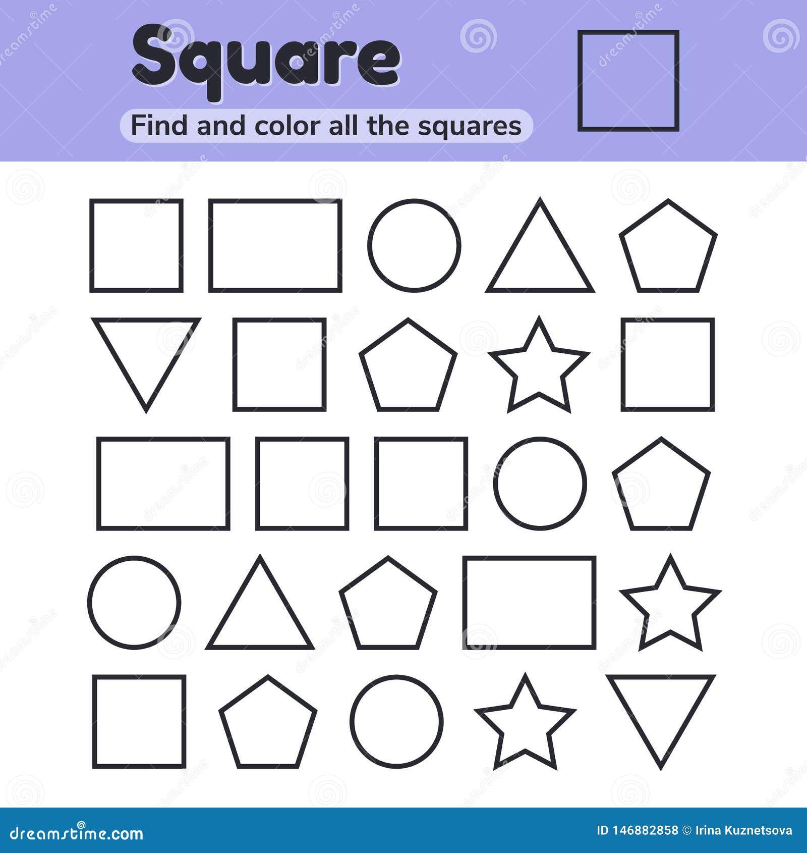Educational Worksheet For Kids Kindergarten, Preschool And ...