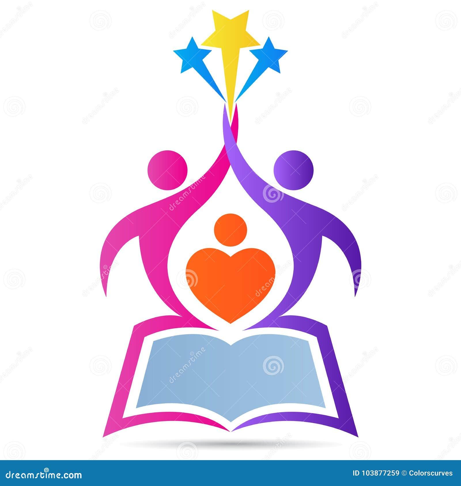 Edukaci książki szkoły loga emblemata celu zasięg wysokiej gwiazdy wektorowy projekt