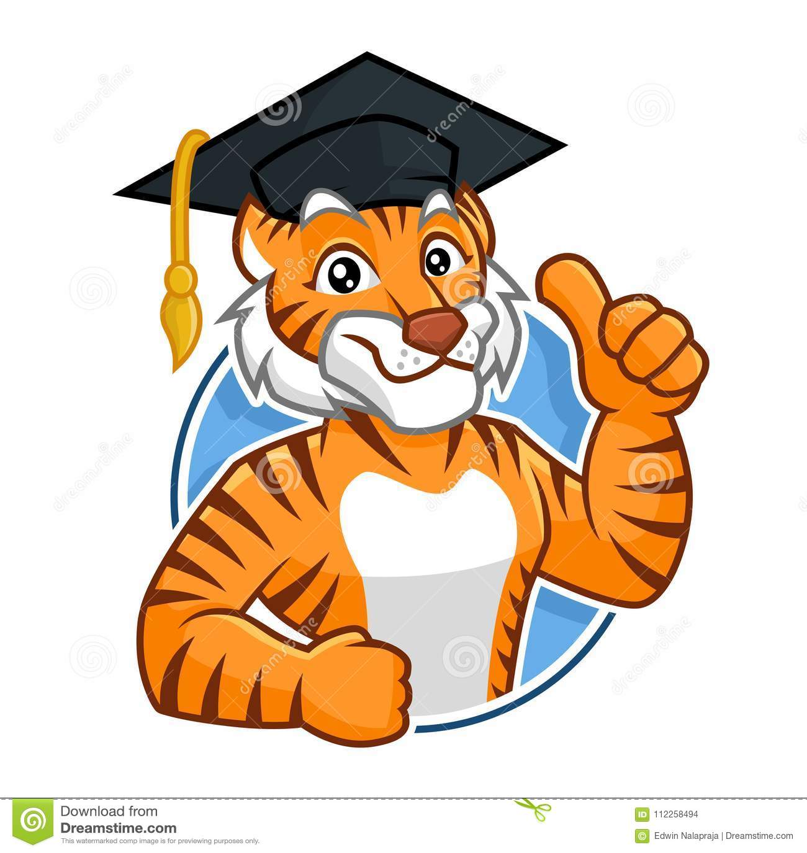 Edukaci maskotki charakteru Tygrysi projekt