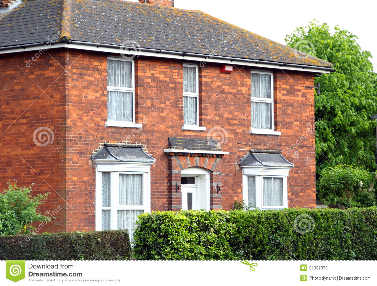 Edwardian house royalty free stock photos image 31337378 for Brick victorian house