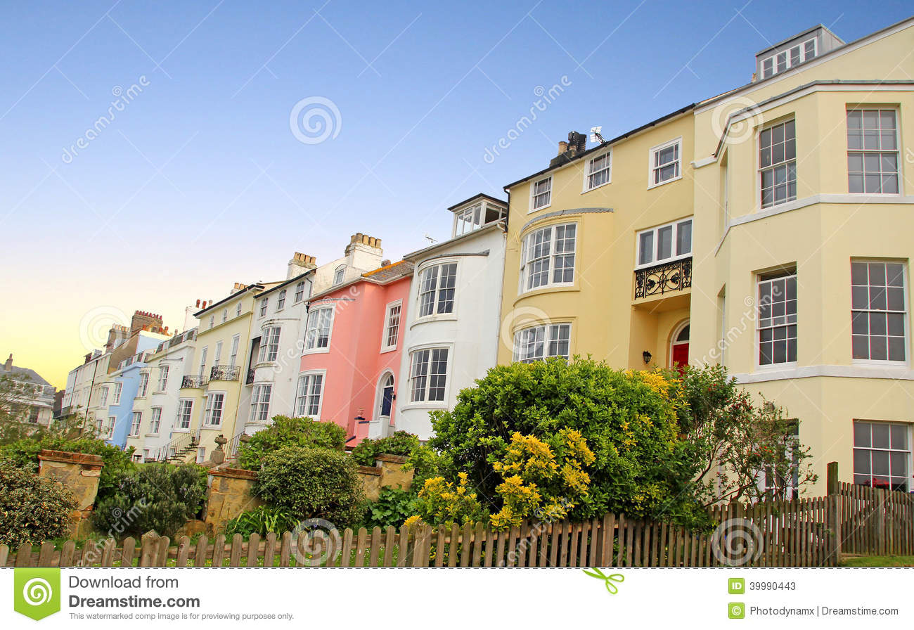 Edwardian Seafront Properties Stock Photo Image 39990443