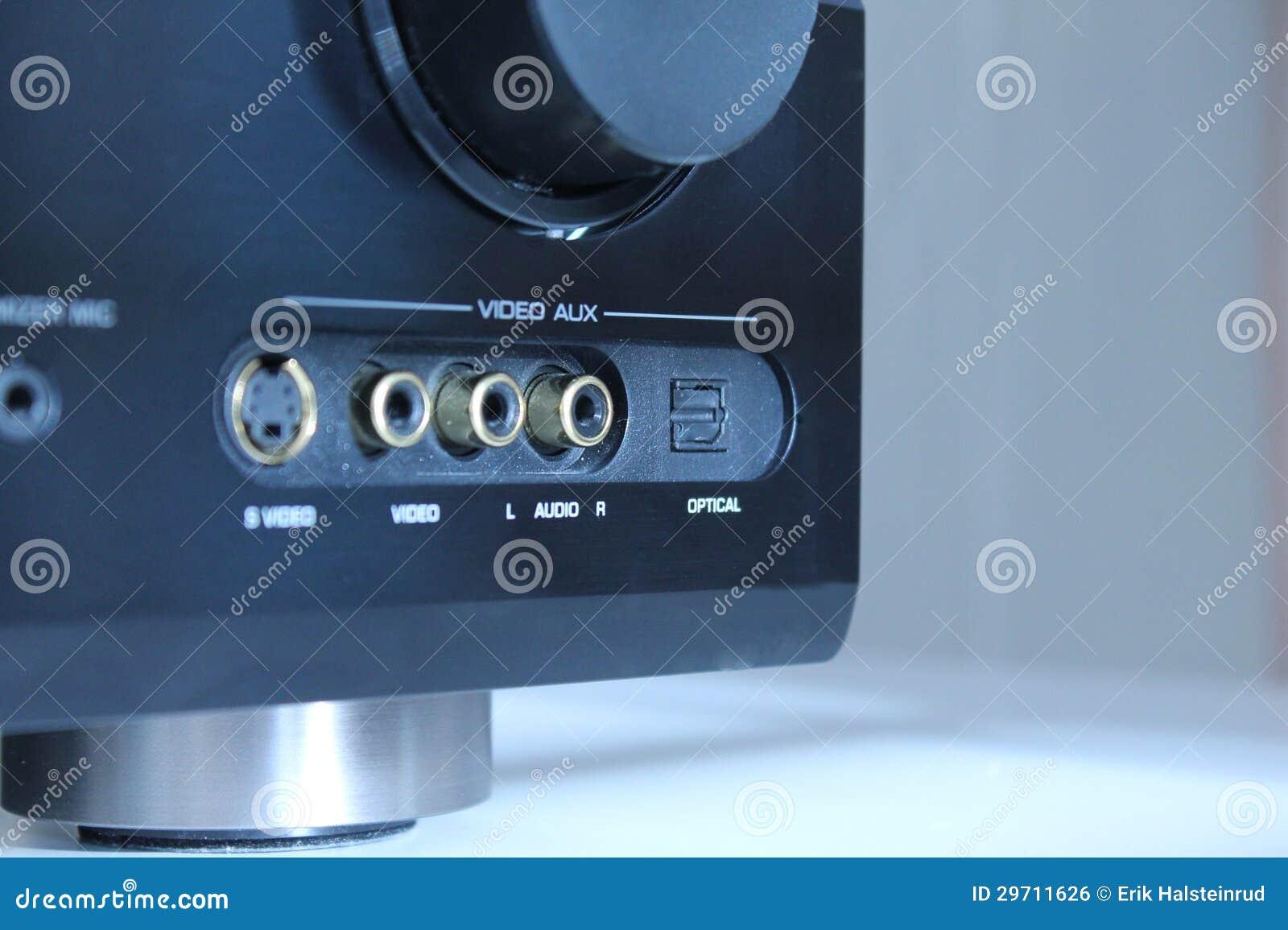 Audio versterkerinput
