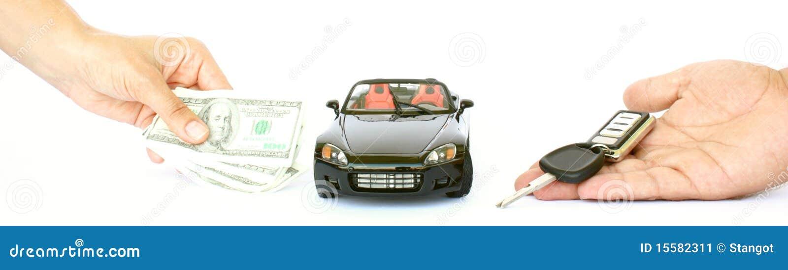 Een auto, een geld en een sleutel