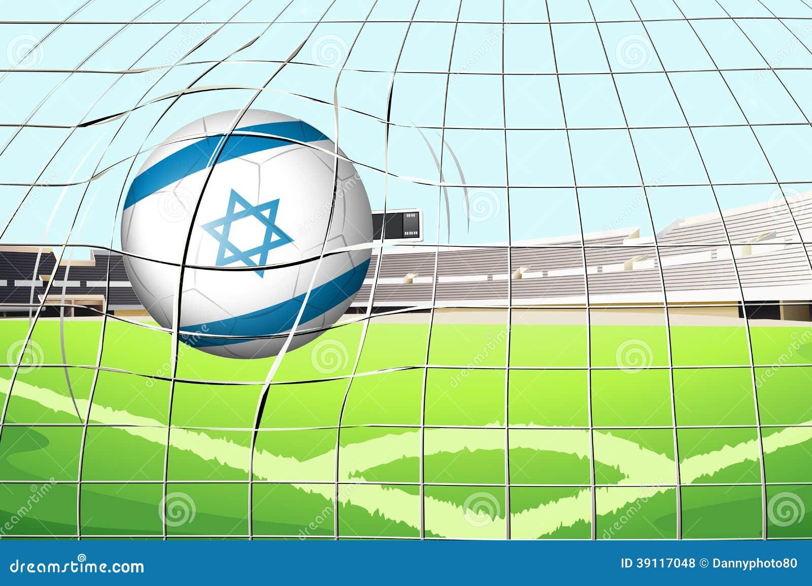 Een bal met de vlag van Israël