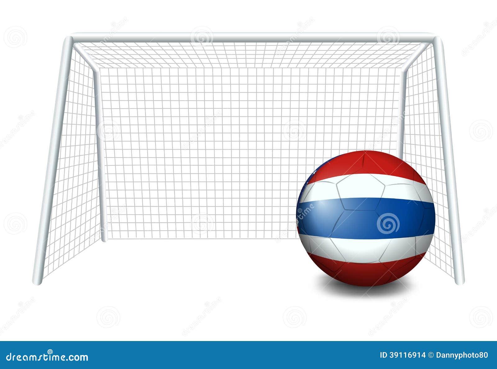 Een bal met de vlag van Thailand