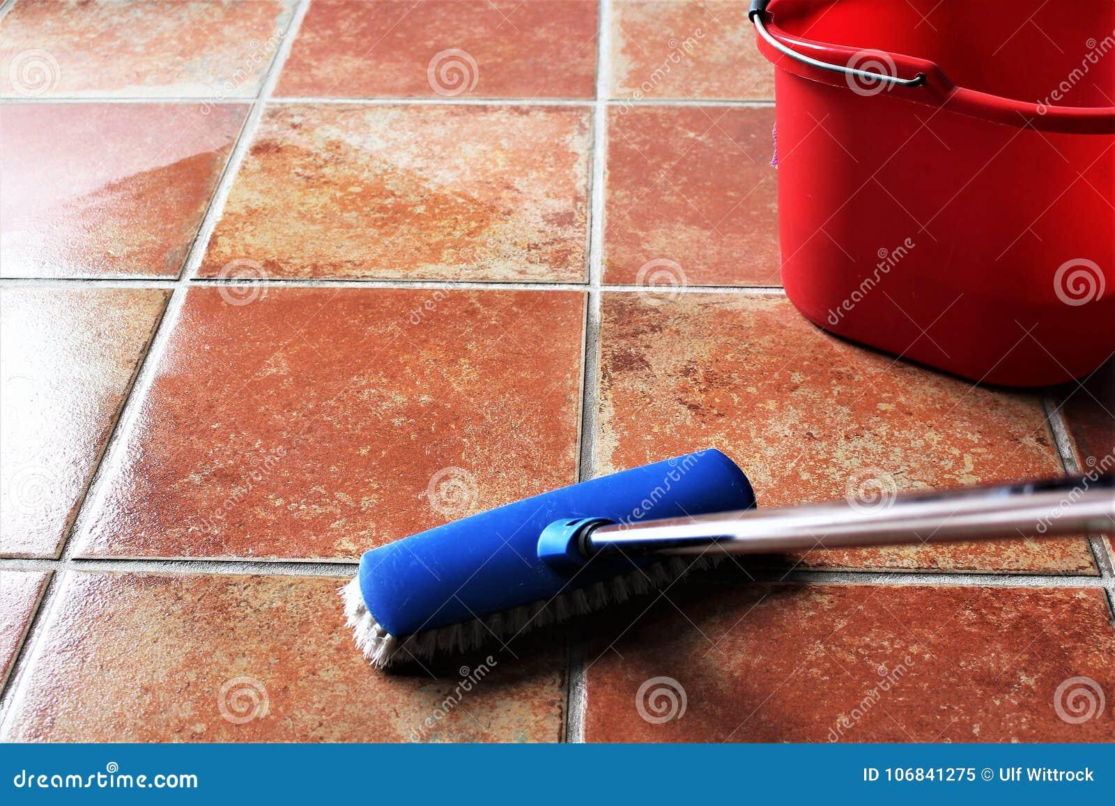 Een beeld die van, een vloer, huishoudelijk werk schoonmaken